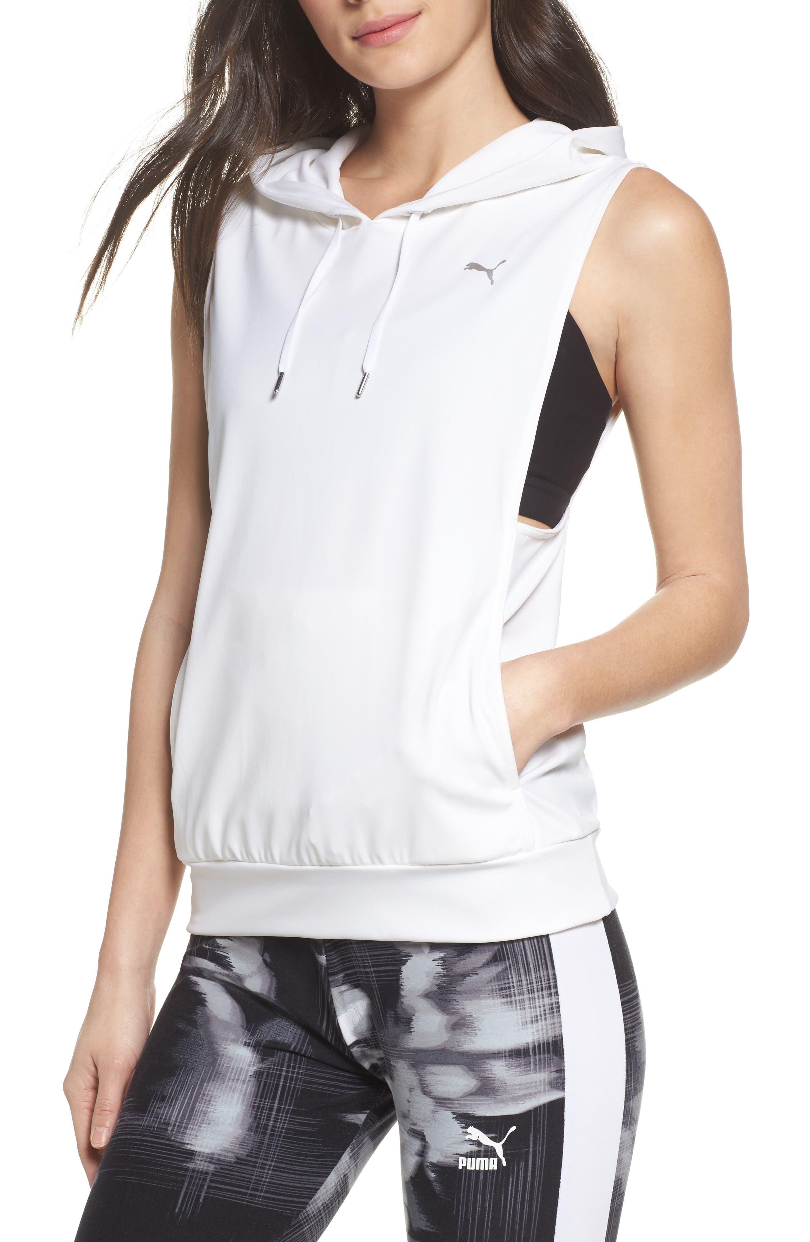 Clash Vest,                             Main thumbnail 1, color,                             Puma White