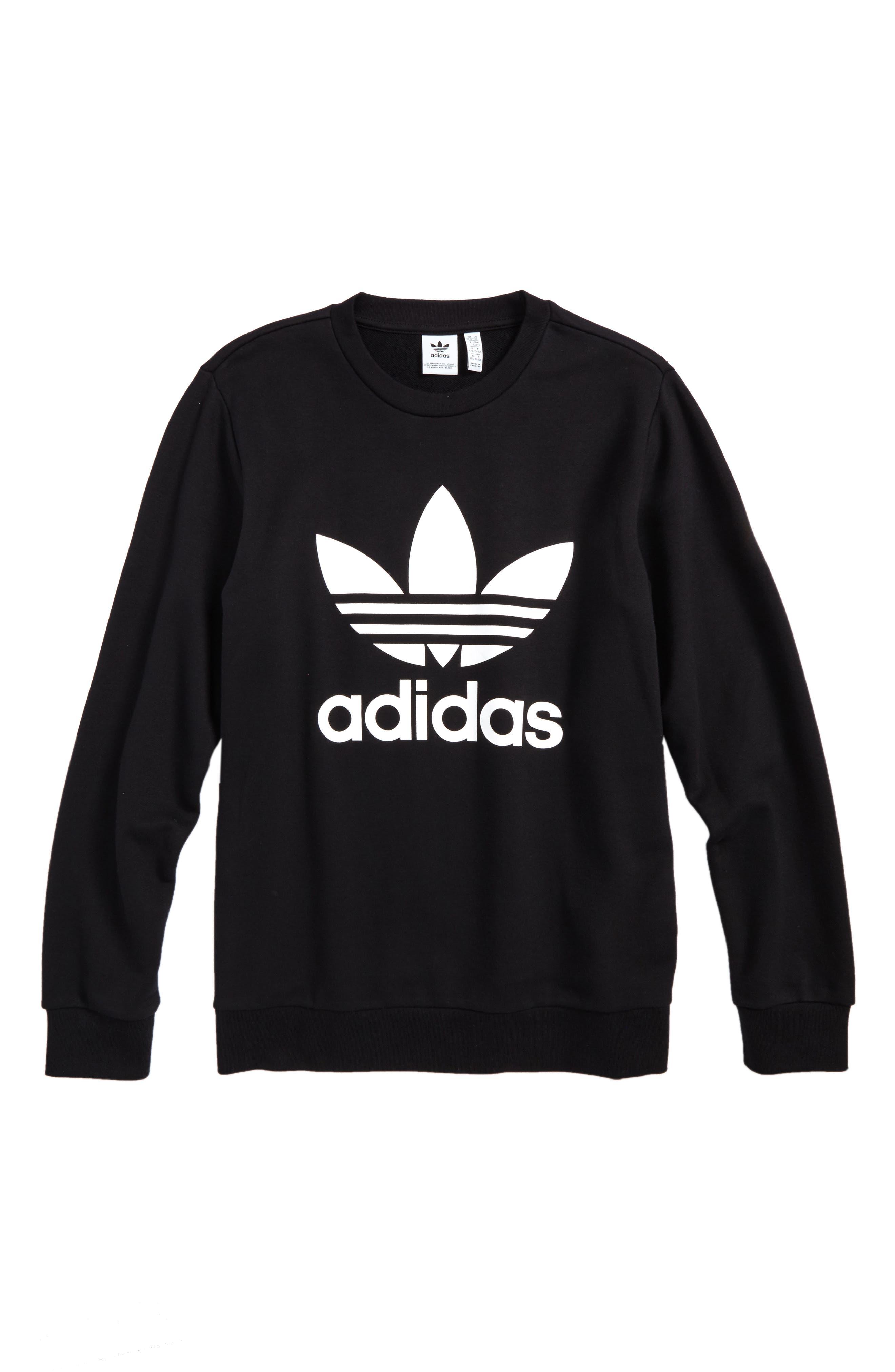 adidas Trefoil Logo Sweatshirt (Big Girls)
