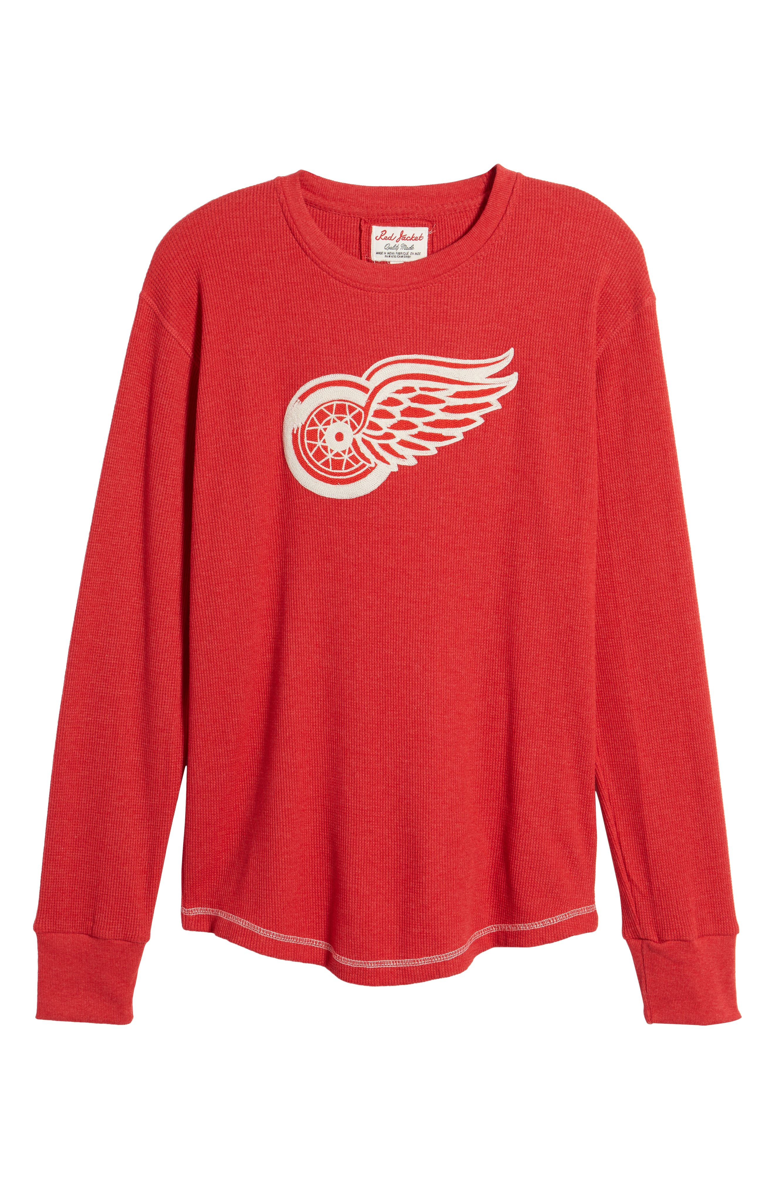 Detroit Red Wings Embroidered Long Sleeve Thermal Shirt,                             Alternate thumbnail 6, color,                             Red