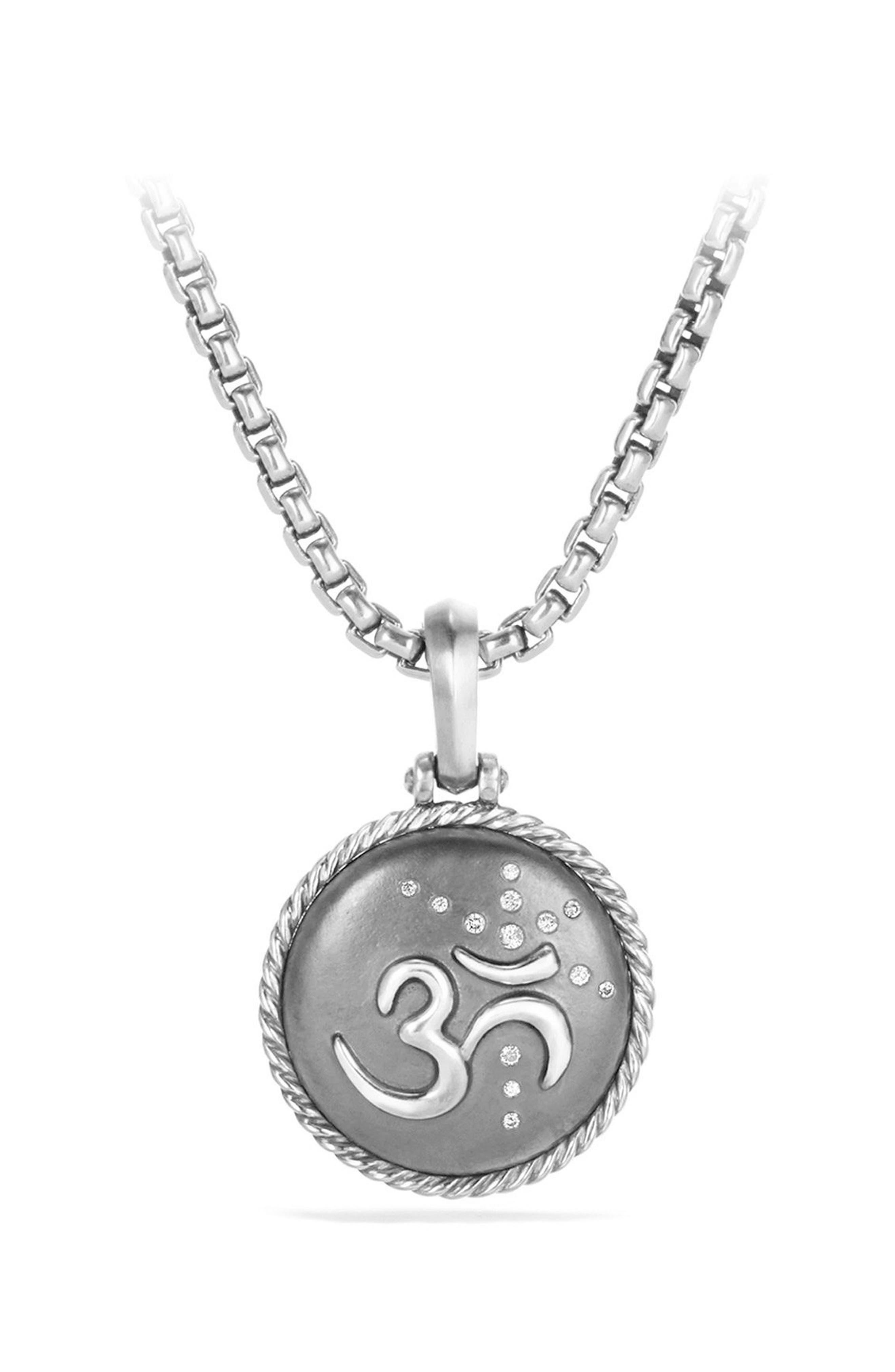 David Yurman Om Diamond Amulet