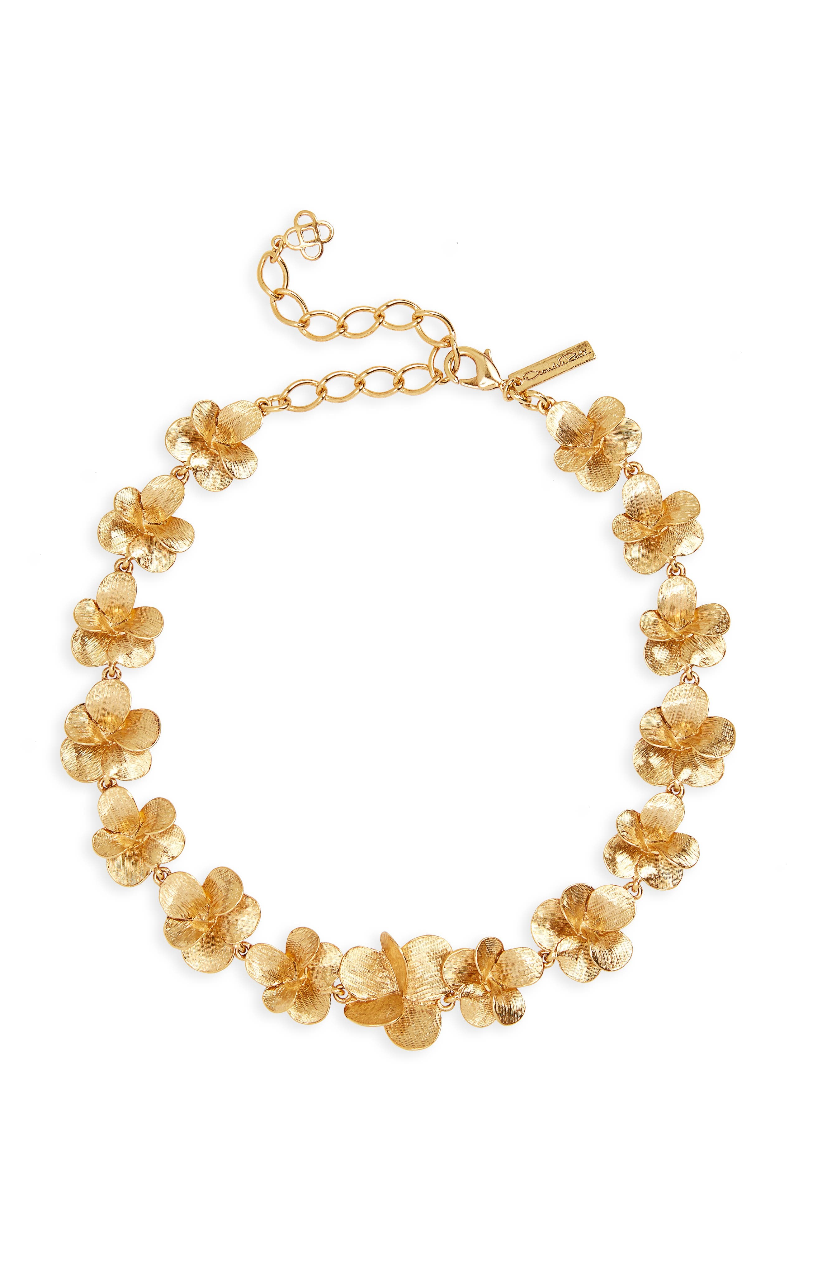Brushed Collar Necklace,                         Main,                         color, Gold