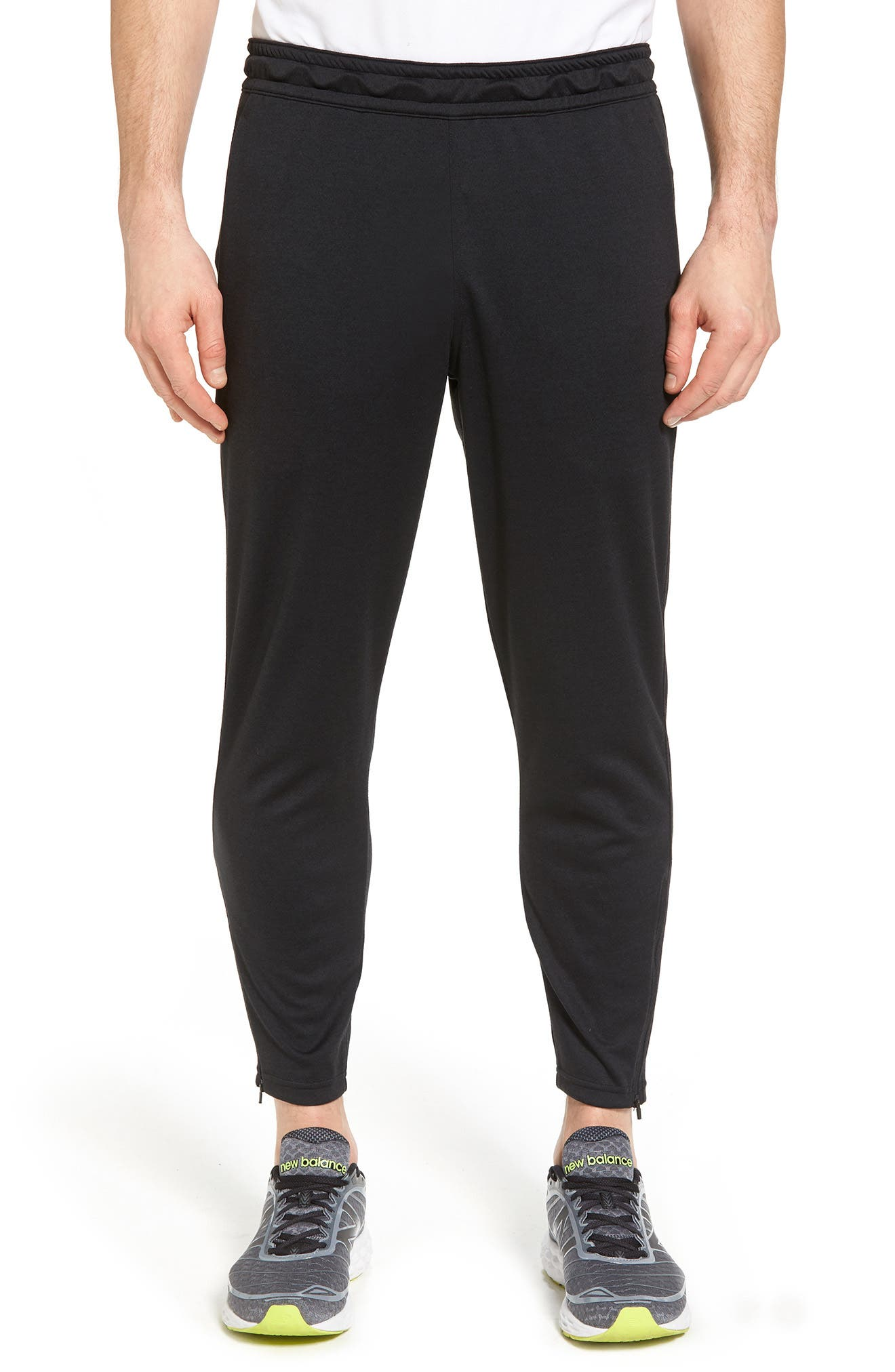 Cropped Jogger Pants,                             Main thumbnail 1, color,                             Black
