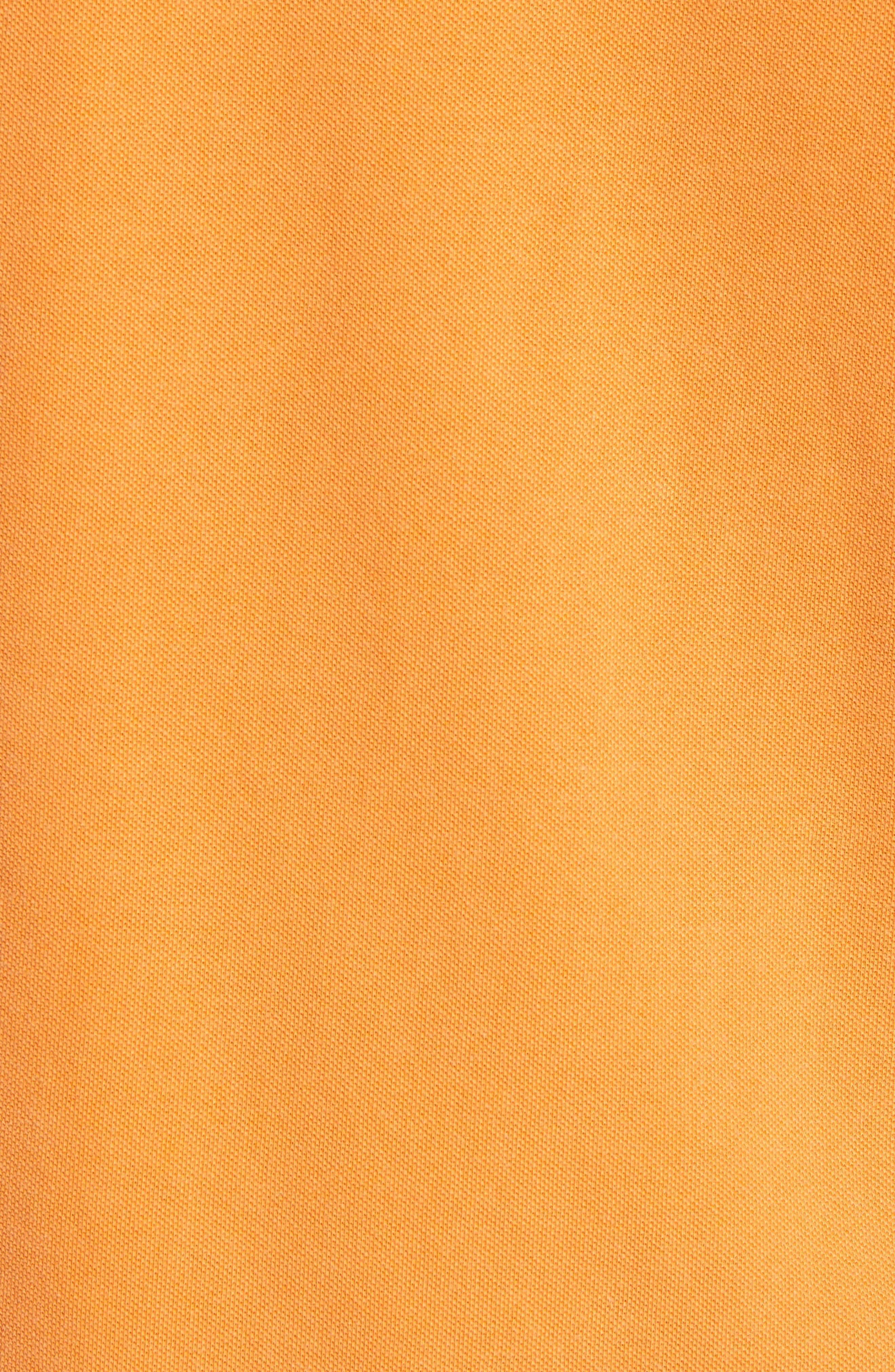 Washed Sports Polo Shirt,                             Alternate thumbnail 5, color,                             Acid Orange