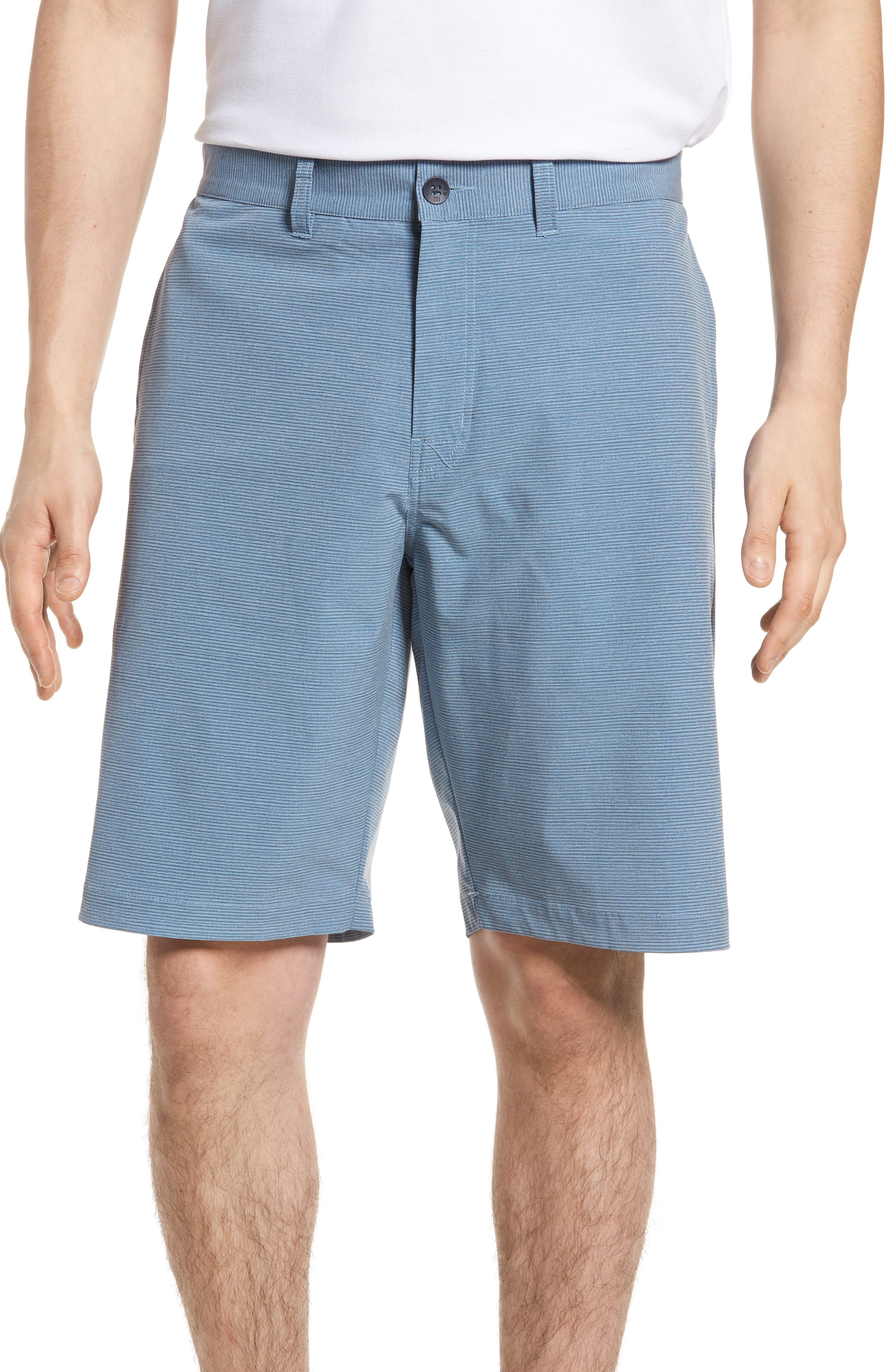 Toro Regular Fit Microstripe Shorts,                         Main,                         color, French Blue/ Micro Chip