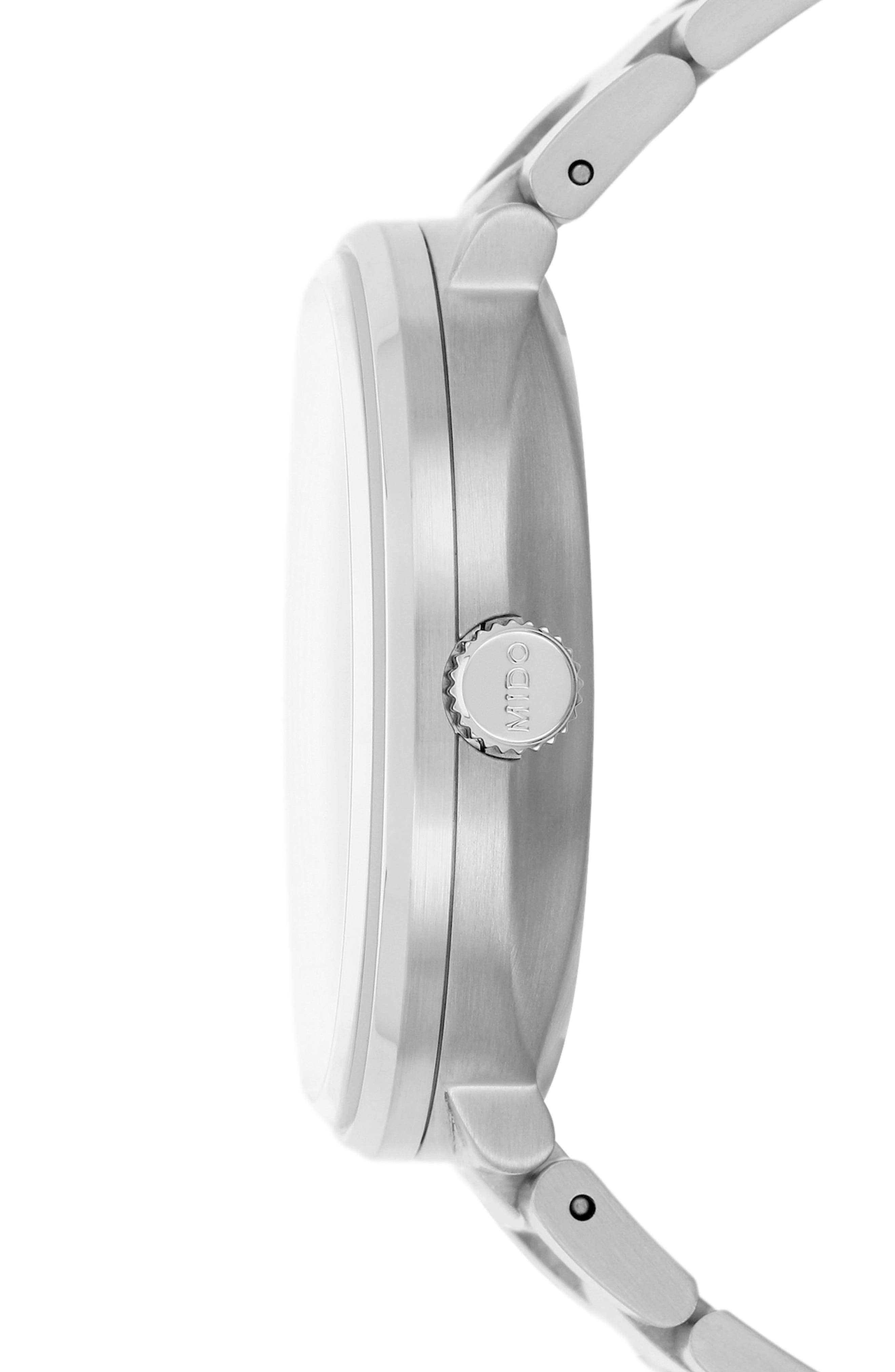 Commander Chronometer Bracelet Watch, 40mm,                             Alternate thumbnail 3, color,                             Silver/ Grey/ Silver