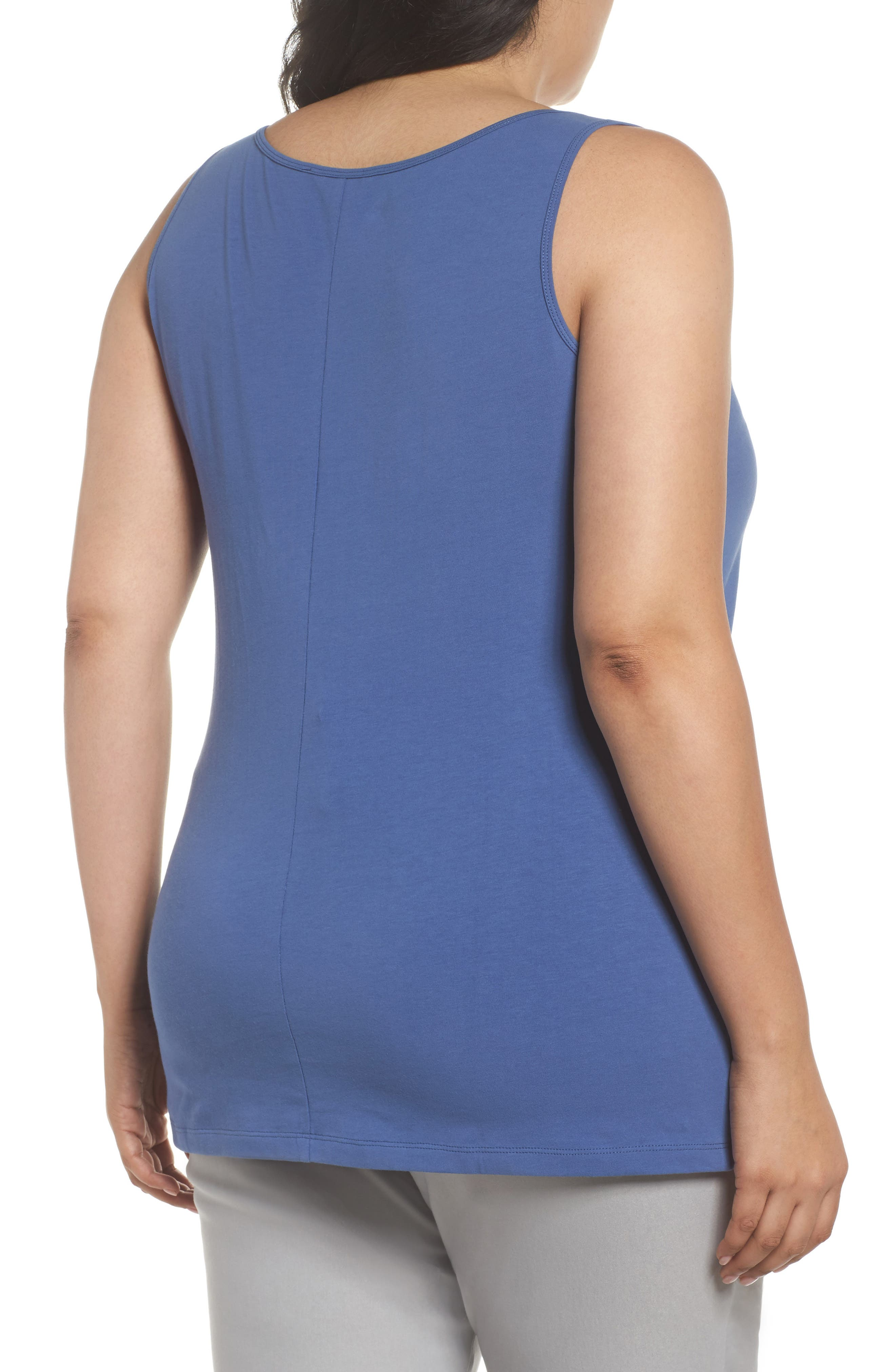 Perfect Scoop Tank,                             Alternate thumbnail 2, color,                             Mosaic Blue