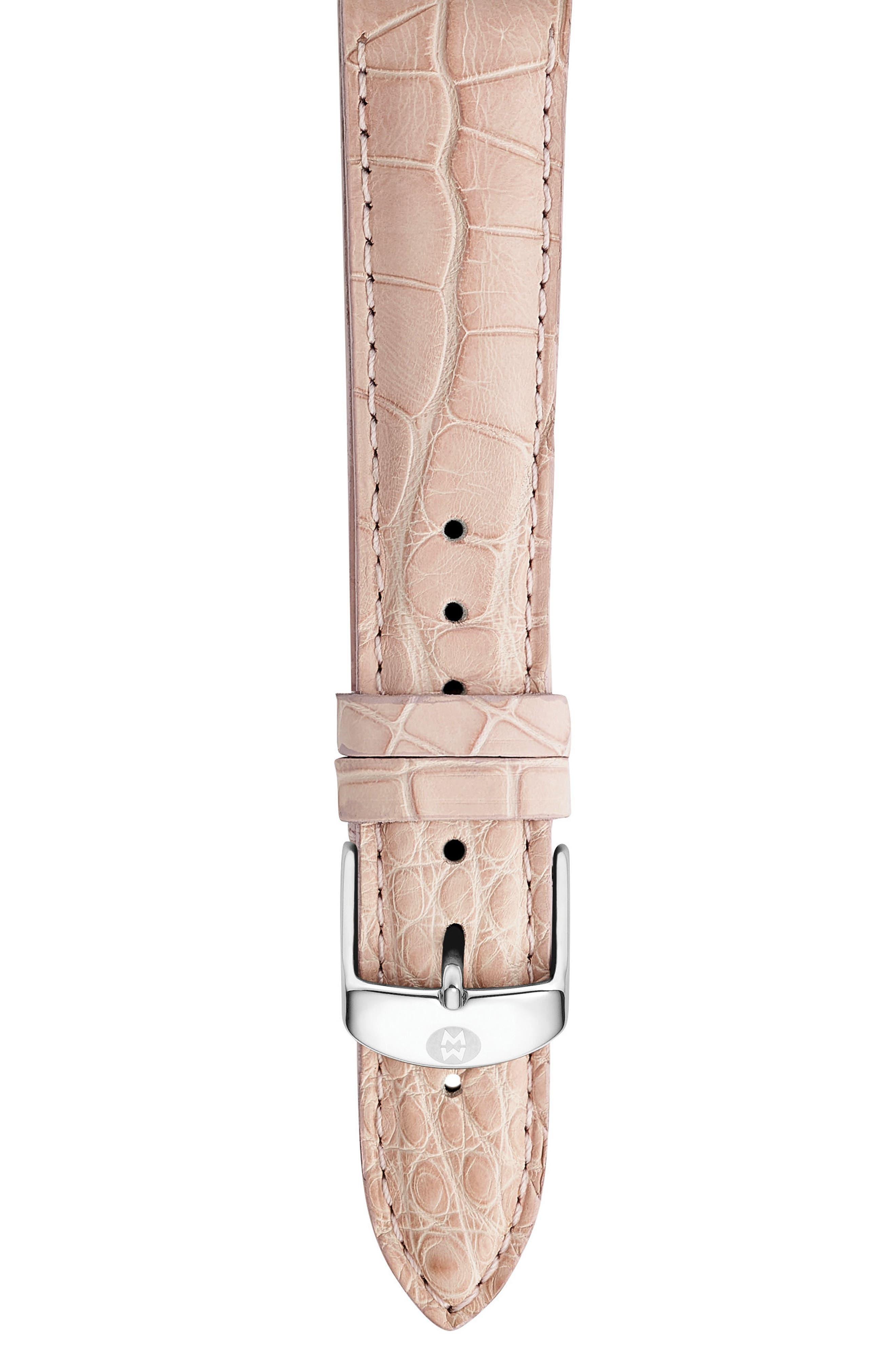 Main Image - MICHELE 18mm Alligator Watch Strap