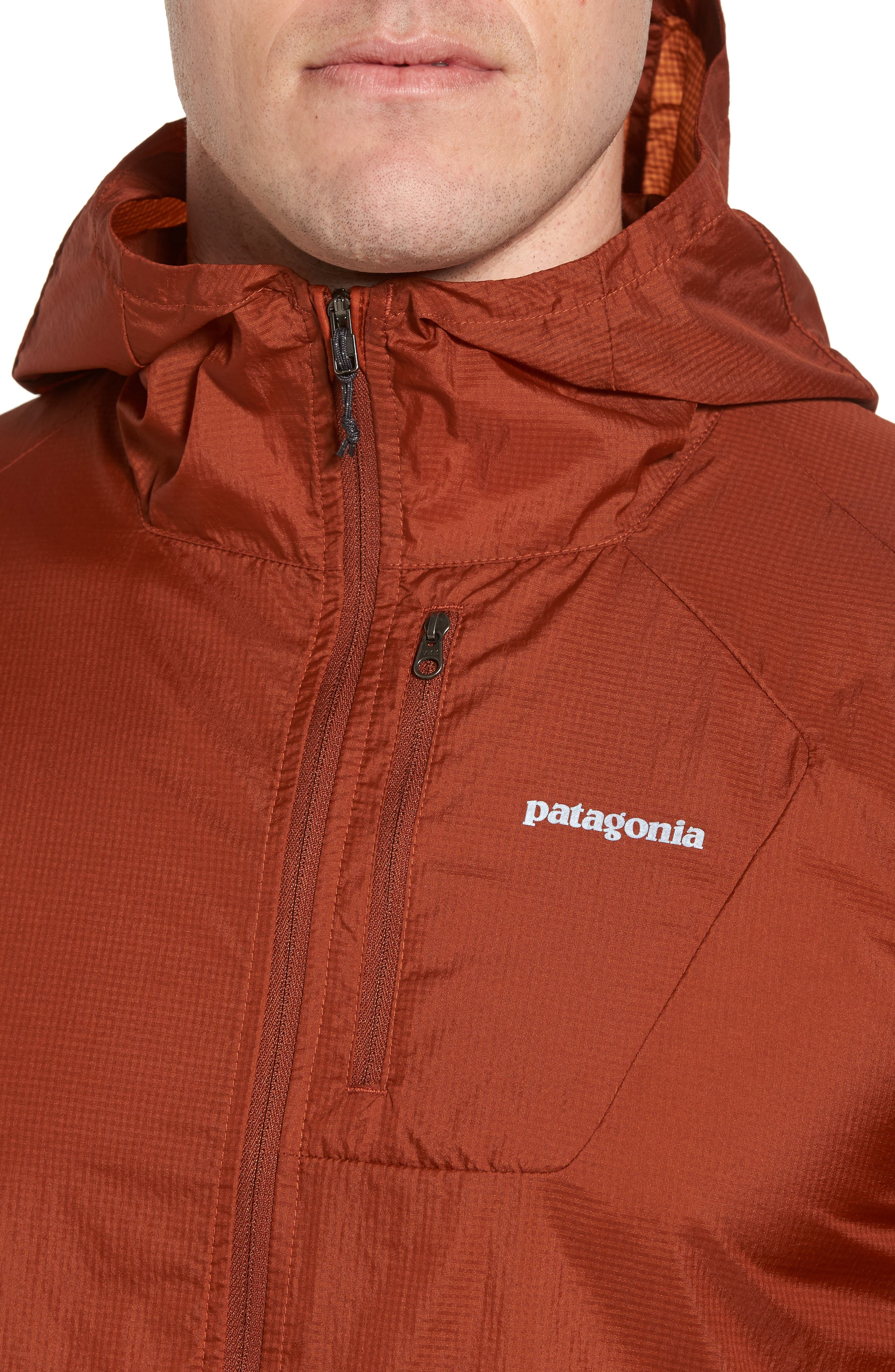 'Houdini' Slim Fit Water Repellent Hooded Jacket,                             Alternate thumbnail 4, color,                             Copper Ore