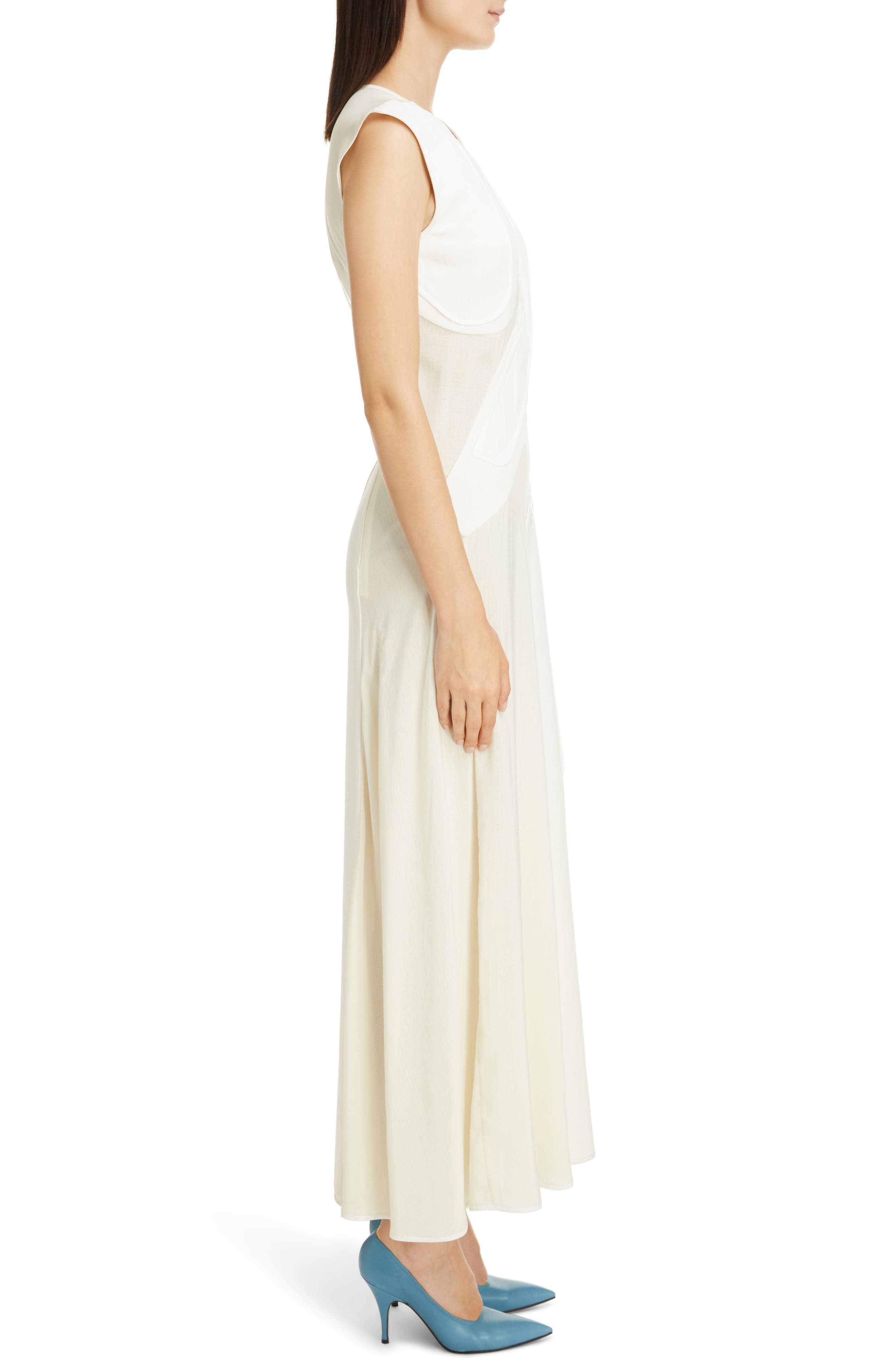 Patchwork Maxi Dress,                             Alternate thumbnail 3, color,                             Off White