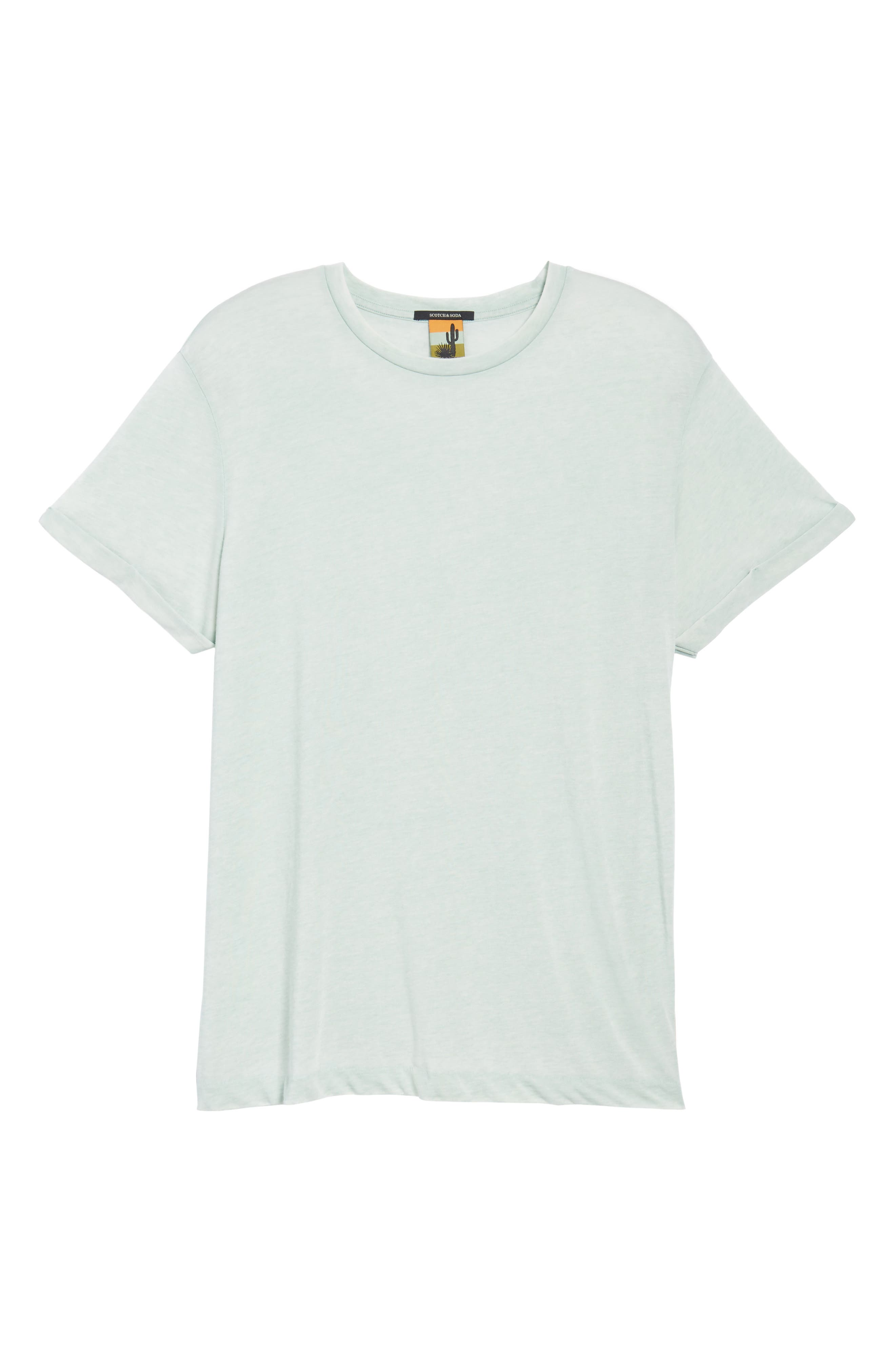 Ausbrenner T-Shirt,                             Alternate thumbnail 6, color,                             Seafoam Green Melange