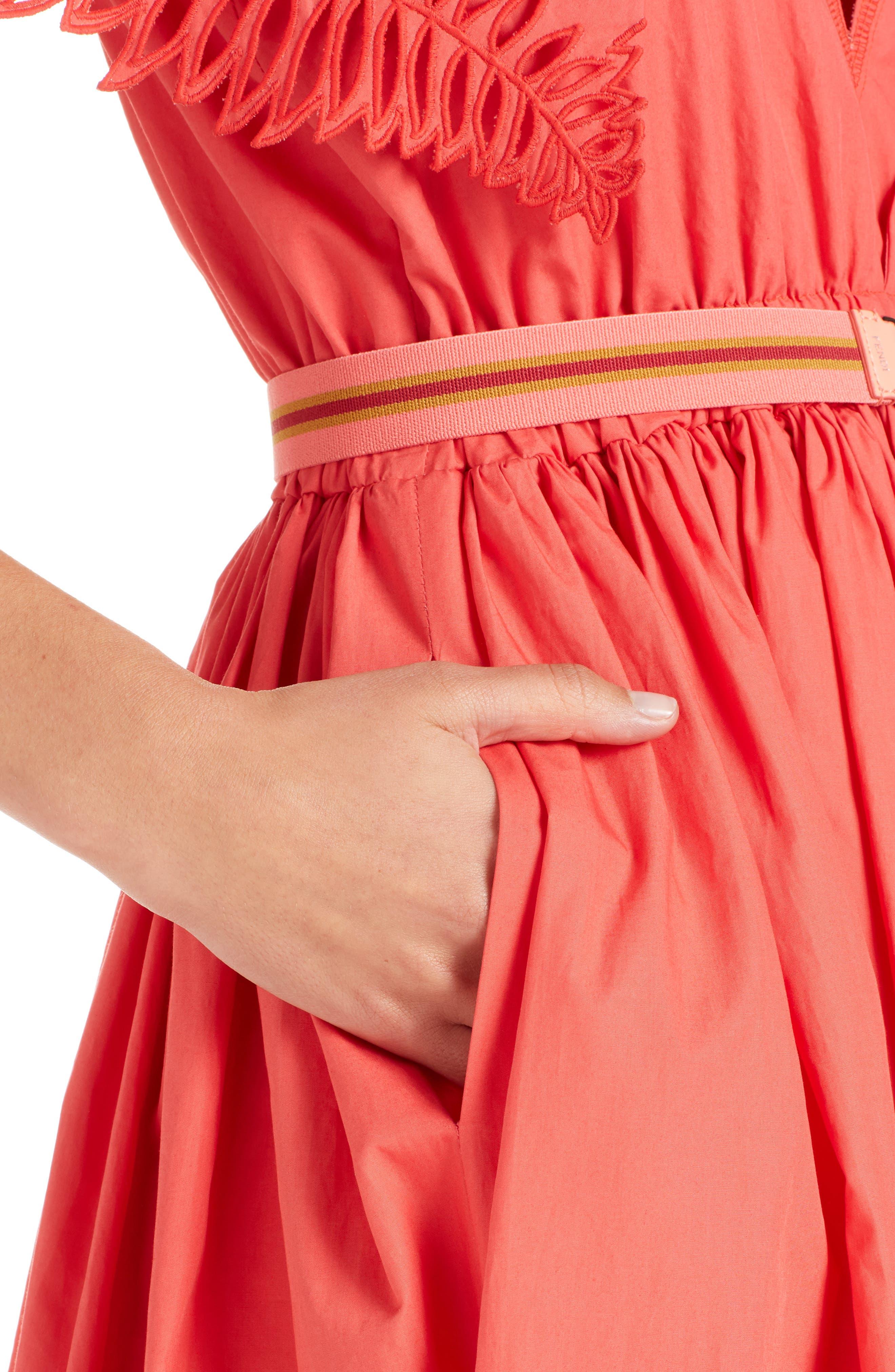 Alternate Image 4  - Fendi Cold Shoulder Taffeta Midi Dress