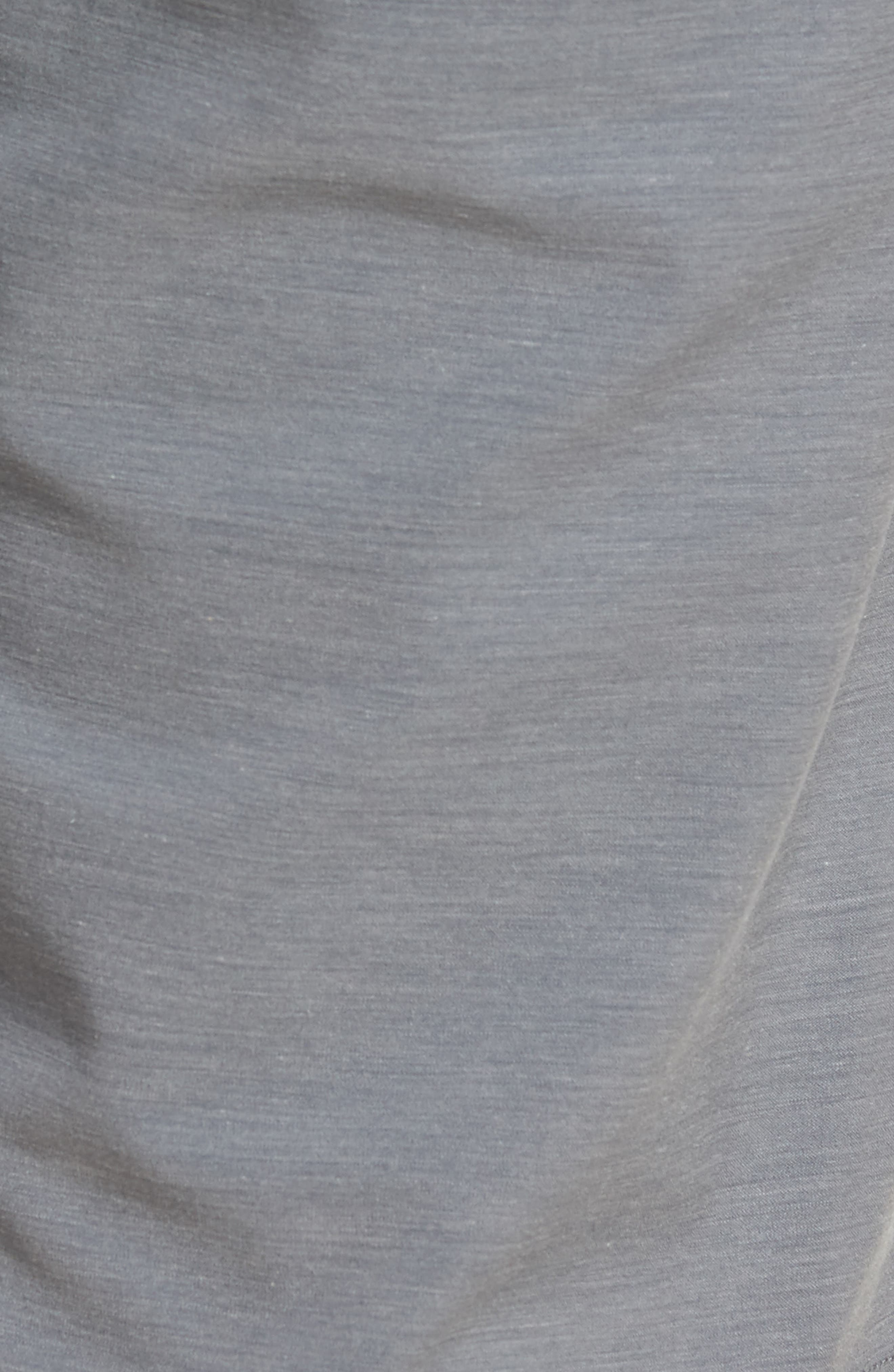 La Paz Regular Fit Slub Knit Shorts,                             Alternate thumbnail 5, color,                             Sharkskin