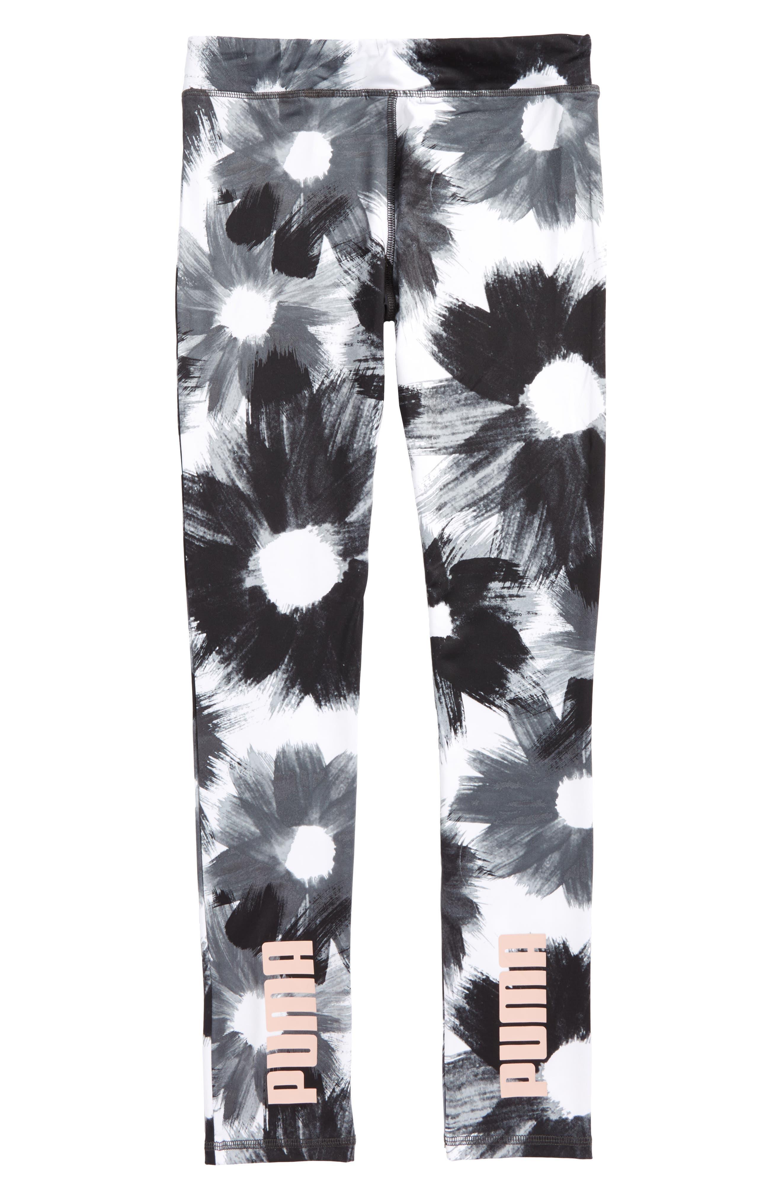 Alternate Image 2  - PUMA Brushstroke Print Leggings (Big Girls)