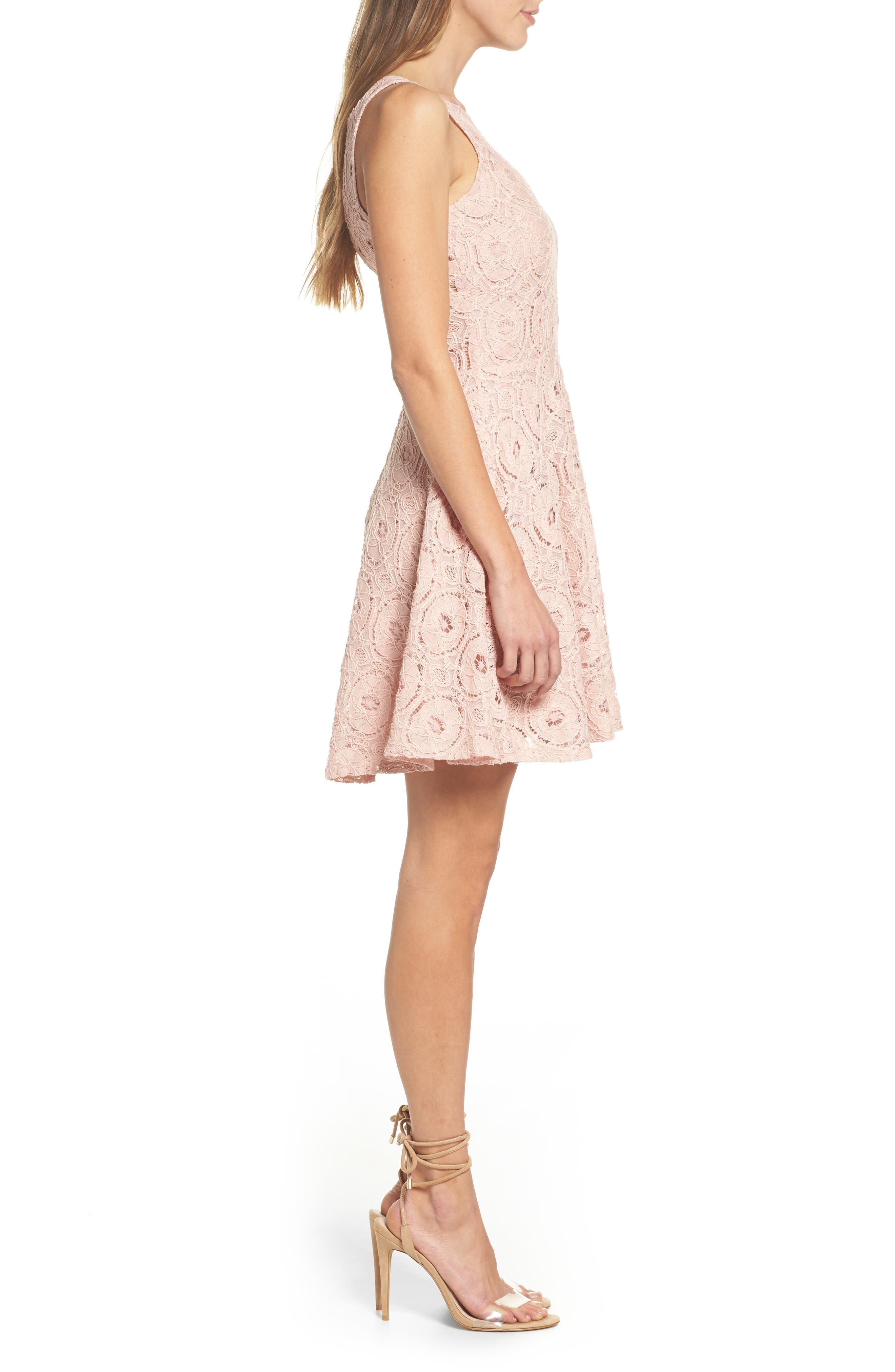 Alternate Image 3  - BB Dakota 'Renley' Lace Fit & Flare Dress (Nordstrom Exclusive)
