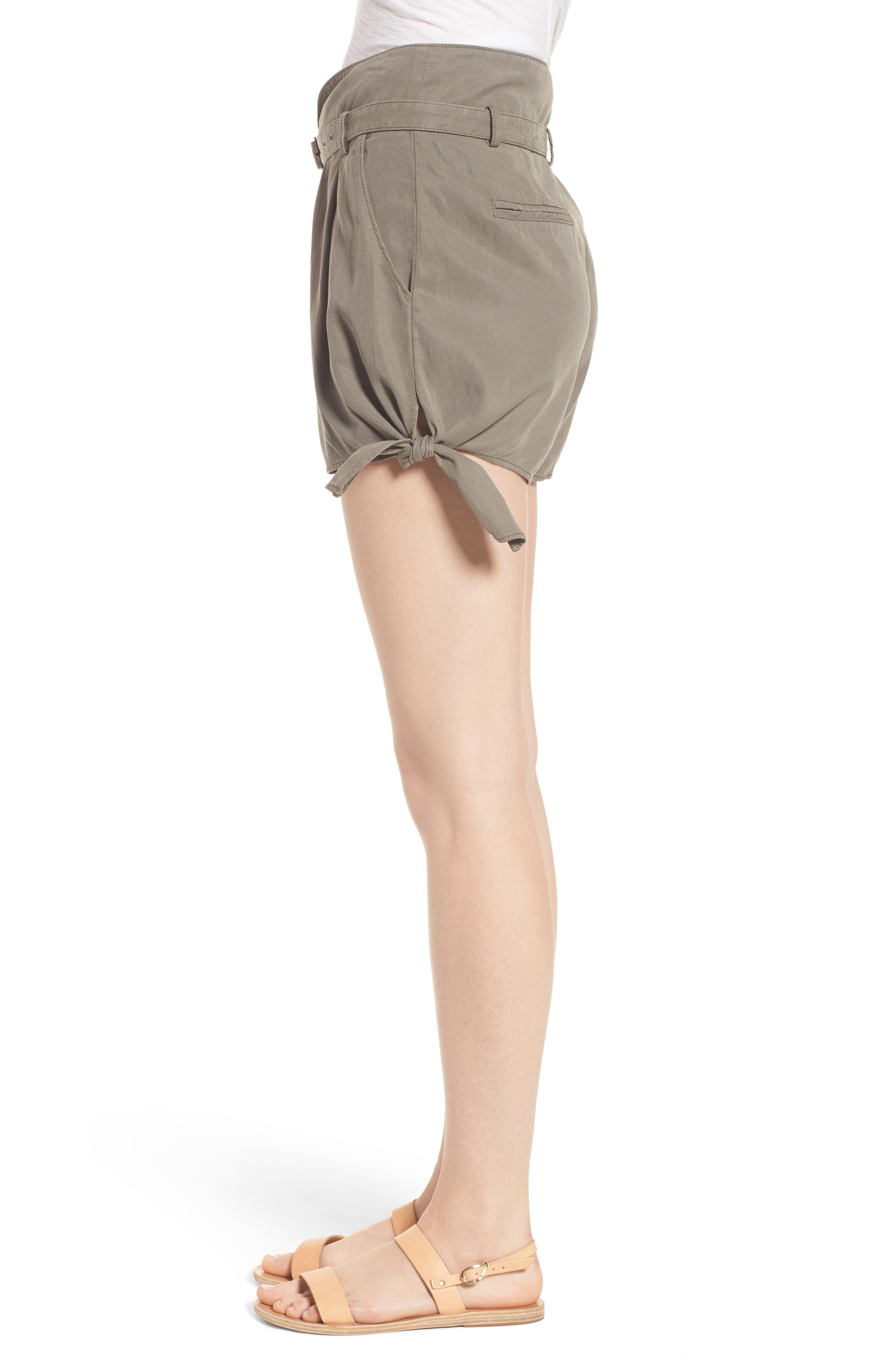 Alternate Image 3  - PAIGE Claudette Tie Hem Shorts