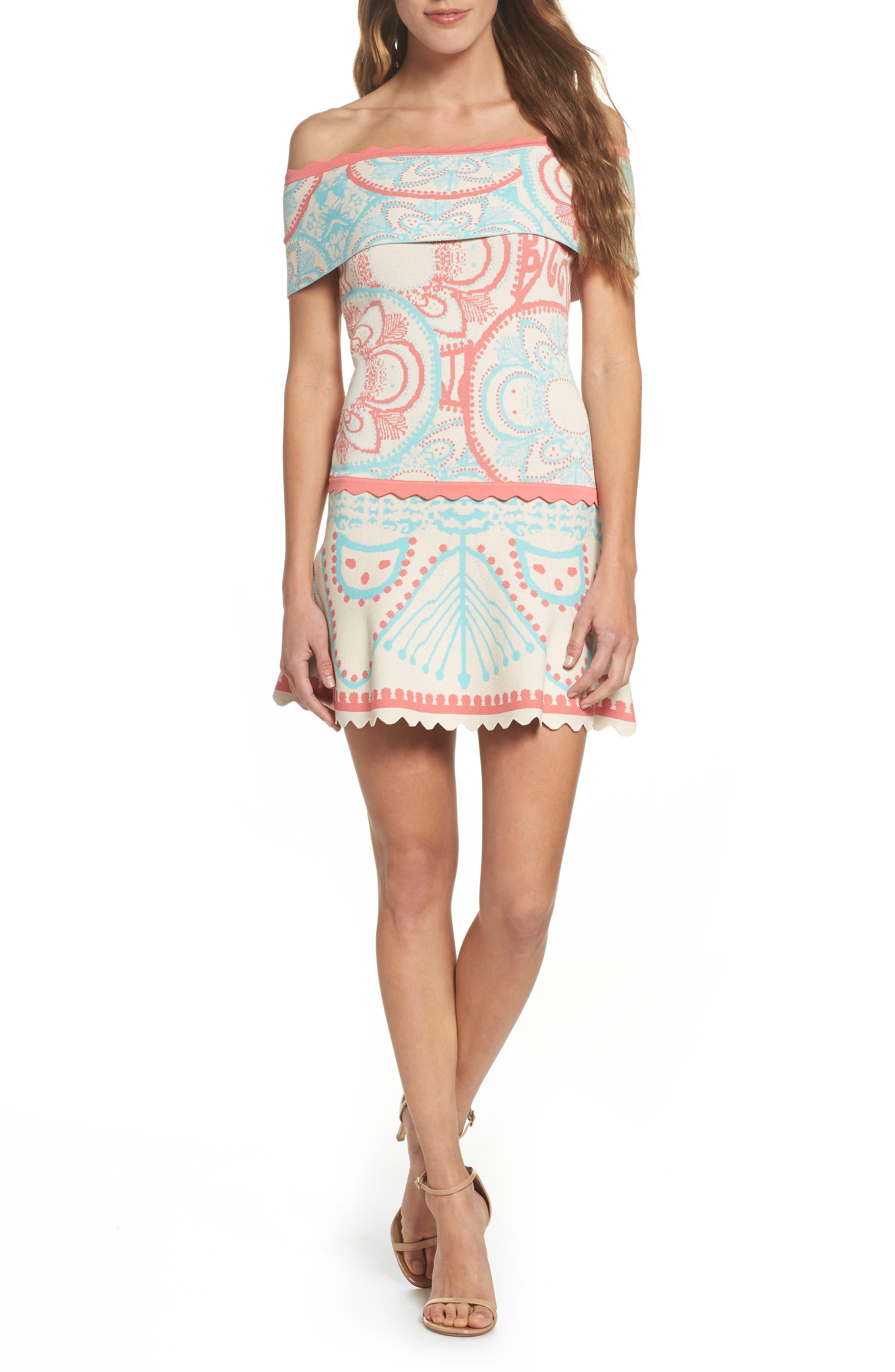 Winnie Off the Shoulder Dress,                         Main,                         color, Winnie Multi