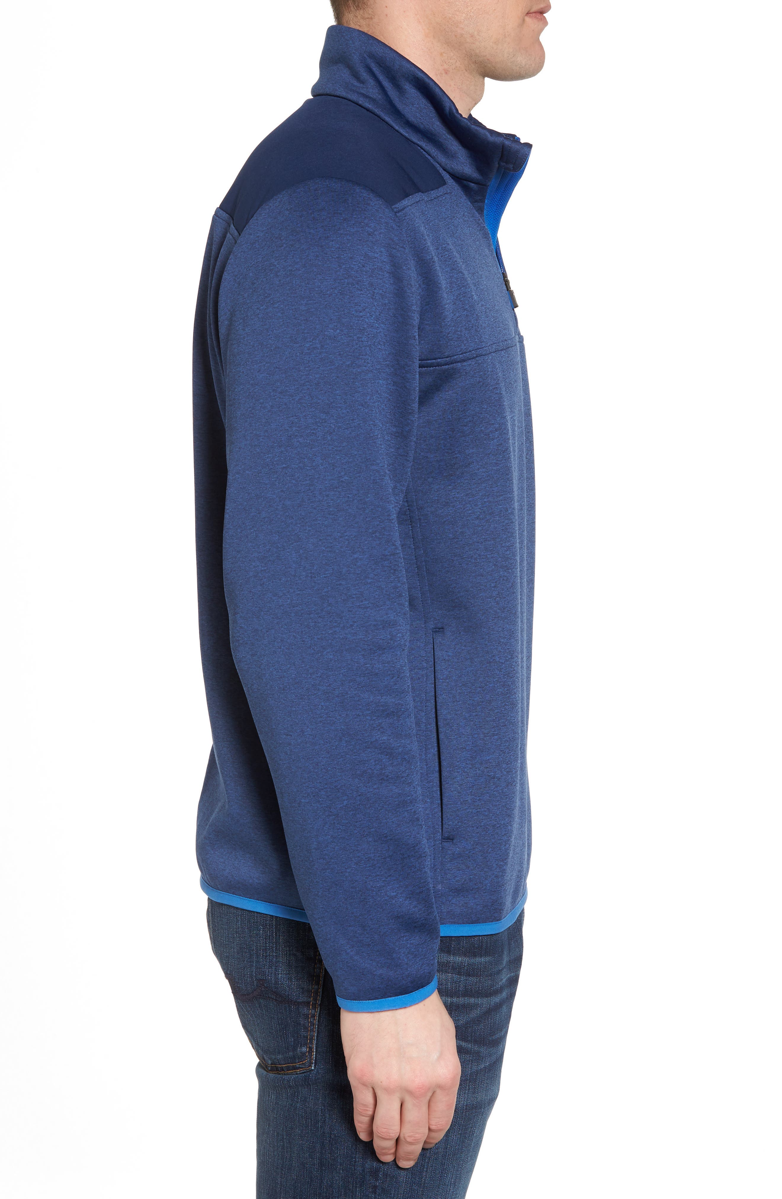 Shep Performance Fleece Quarter Zip Pullover,                             Alternate thumbnail 3, color,                             Deep Bay