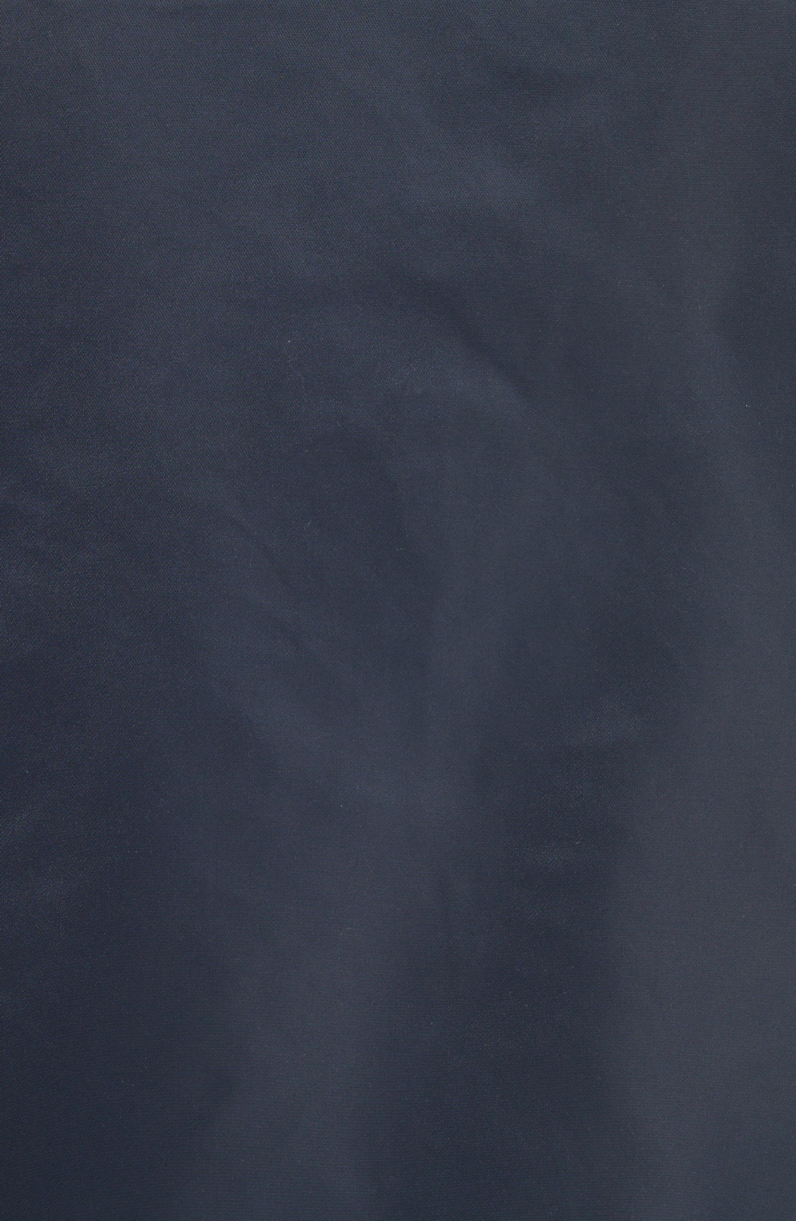 Nylon Bomber Jacket,                             Alternate thumbnail 5, color,                             Midnight Blue