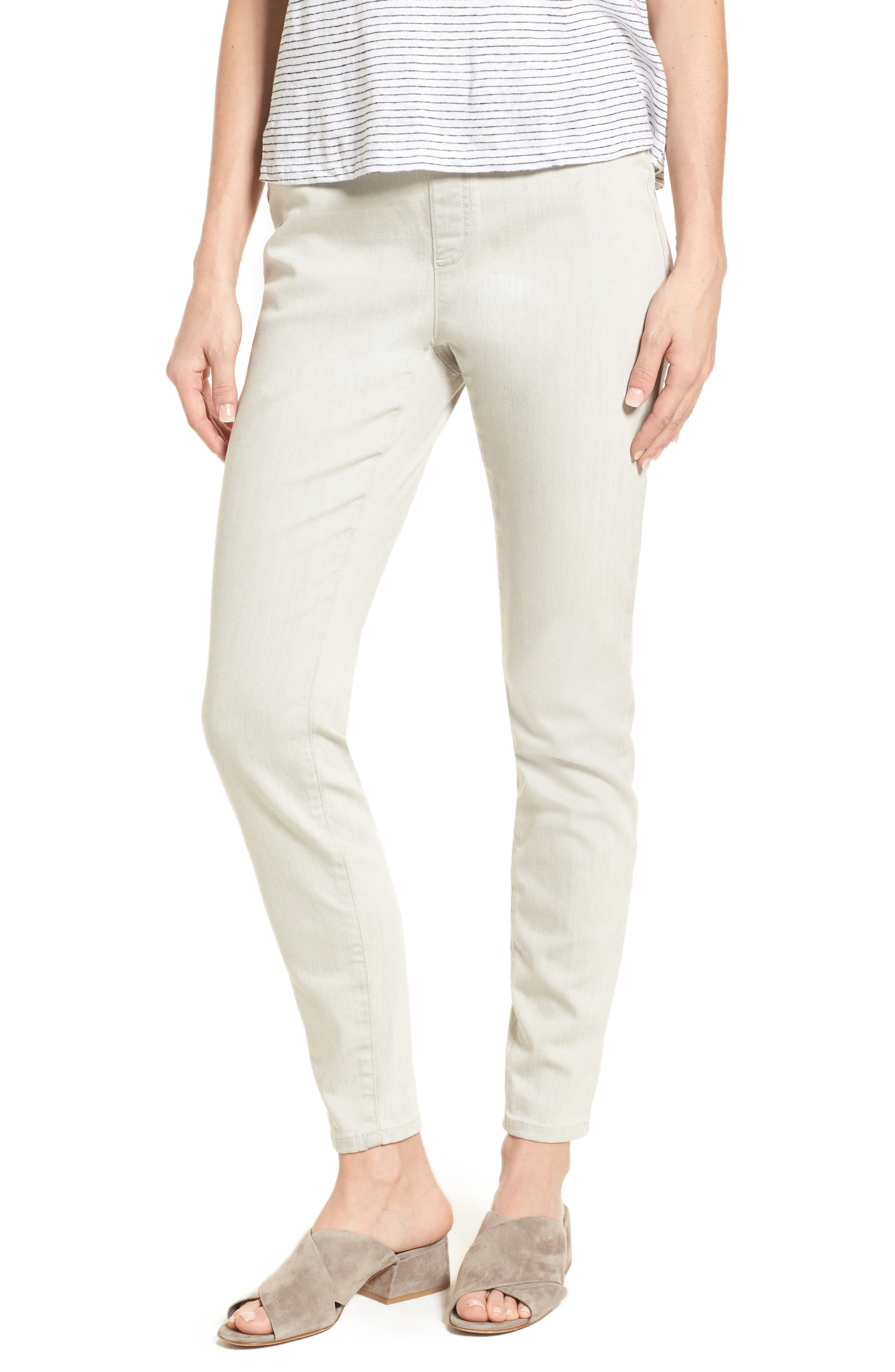 Stretch Denim Leggings,                         Main,                         color, Light Grey