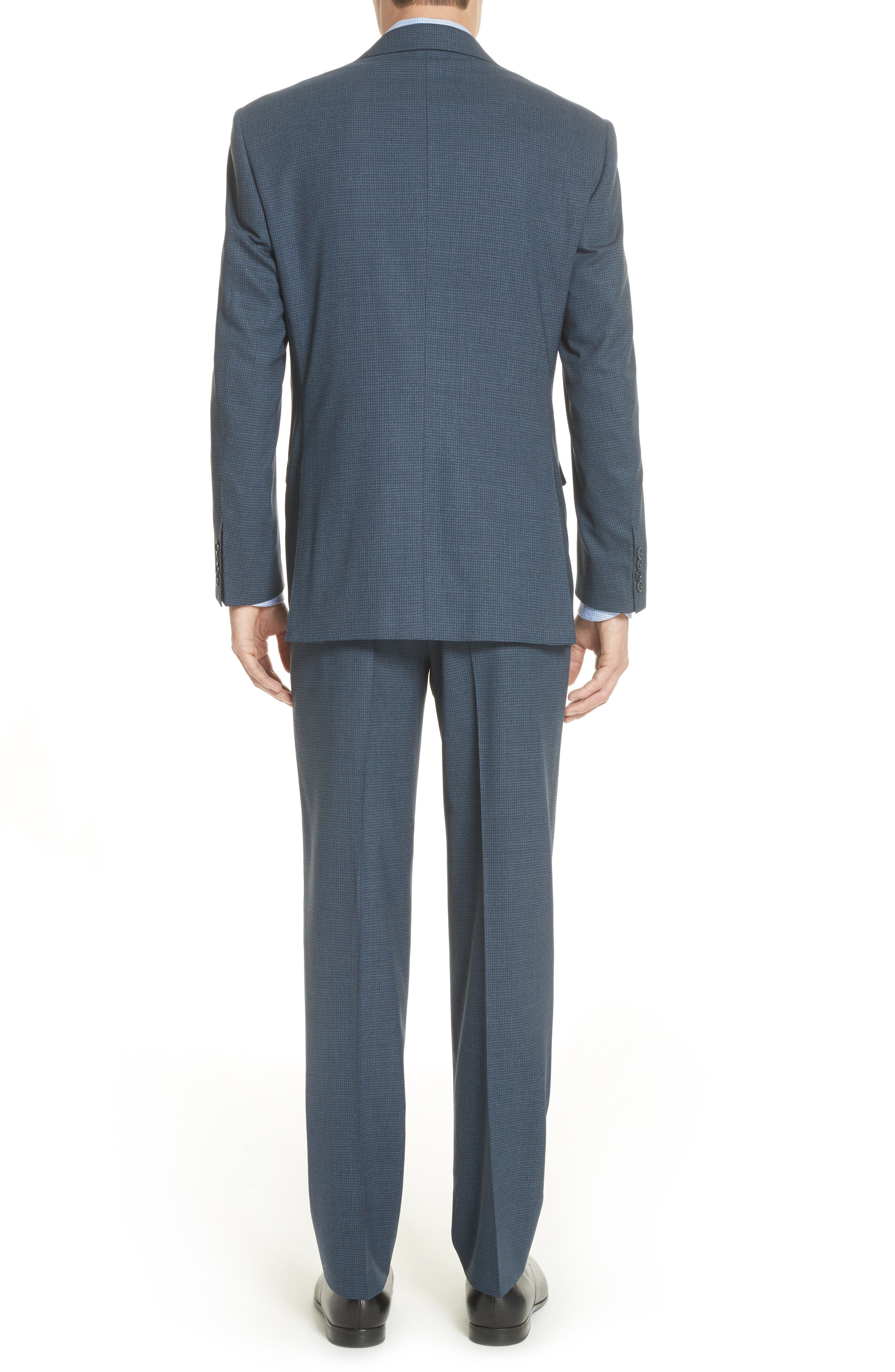 Classic Fit Check Wool Suit,                             Alternate thumbnail 2, color,                             Navy