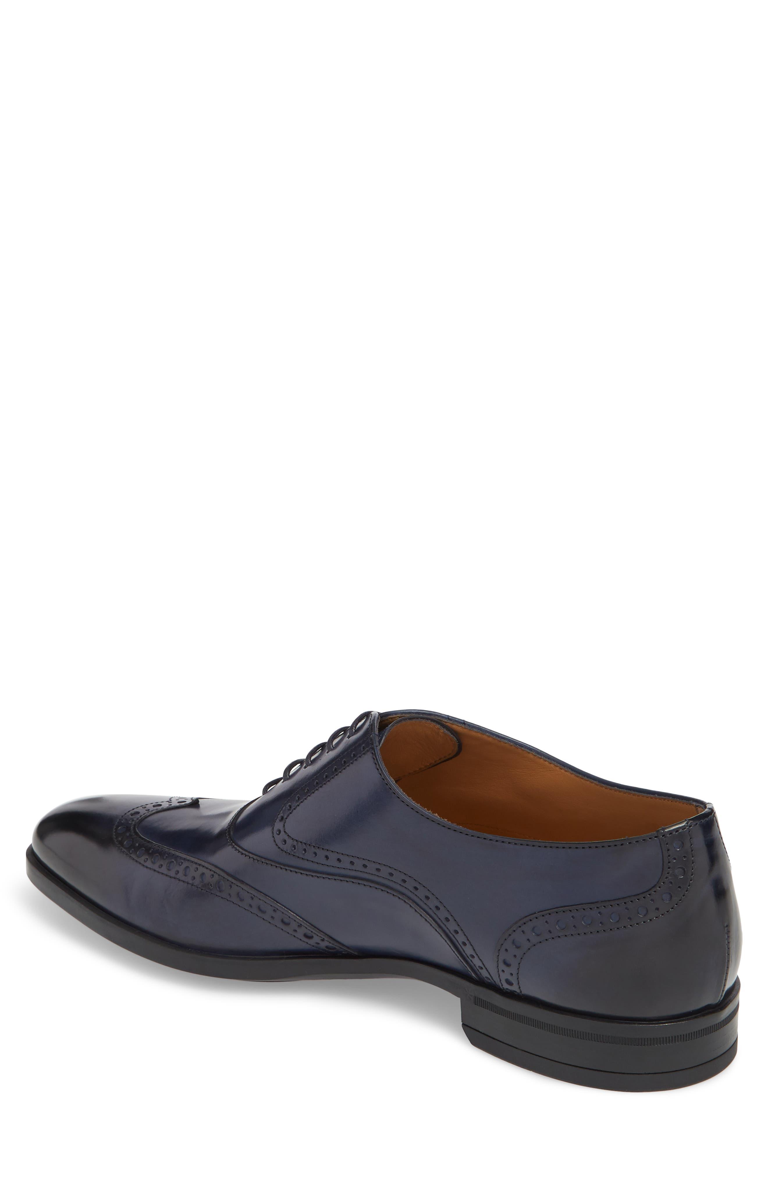 Portland Wingtip,                             Alternate thumbnail 2, color,                             Dark Blue Leather