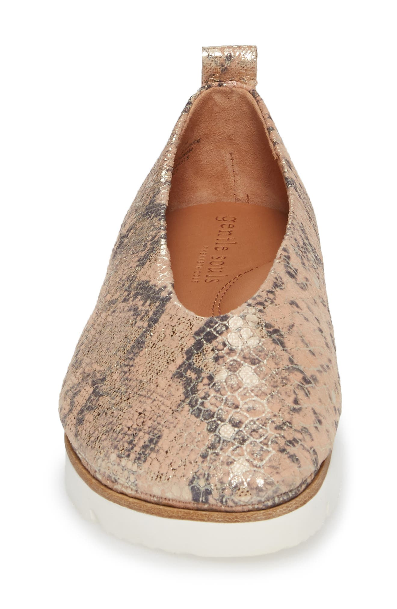 by Kenneth Cole Demi Flat,                             Alternate thumbnail 4, color,                             Rose Metallic Leather