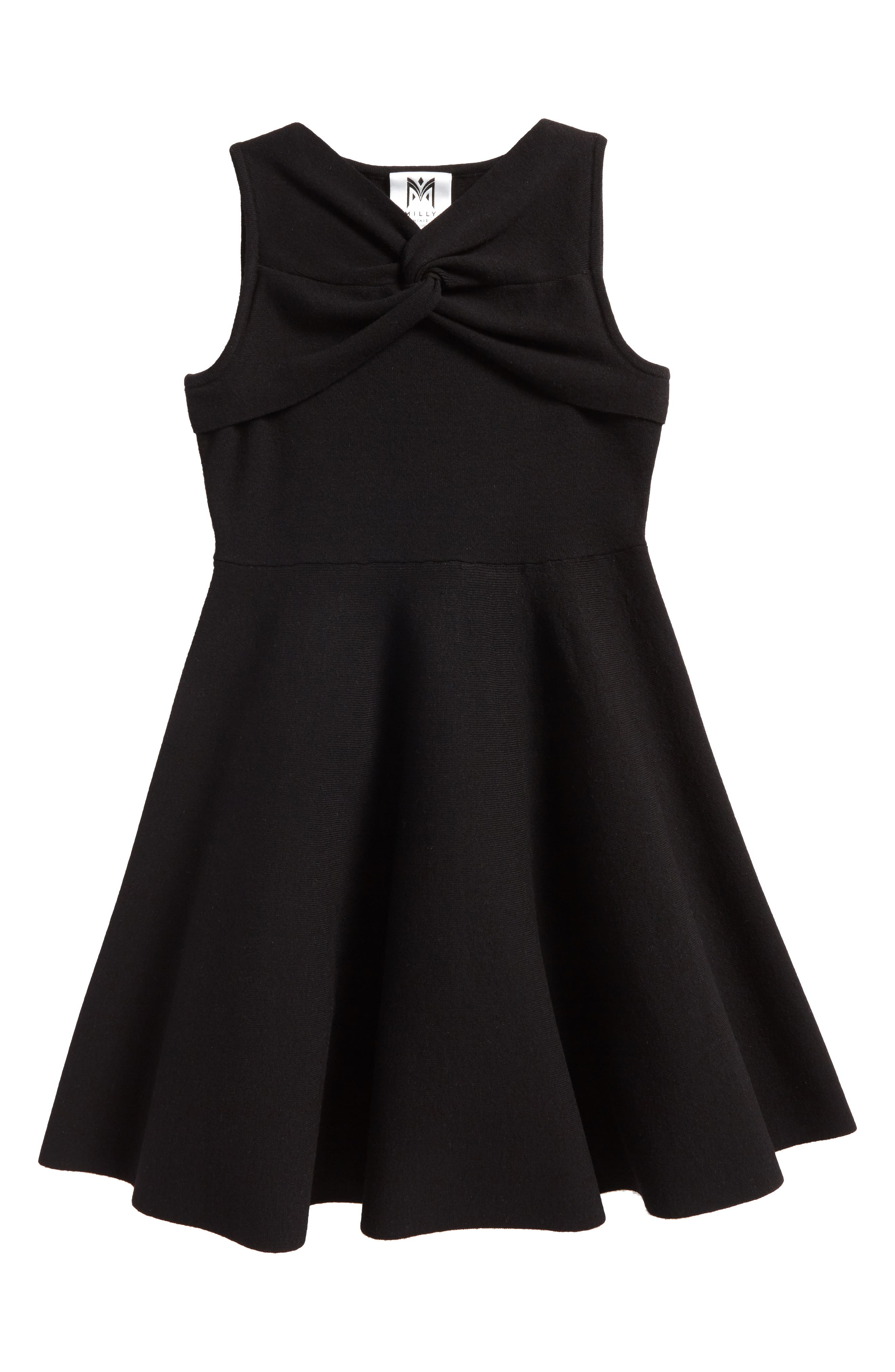 Milly Minis Twist Fit & Flare Dress (Big Girls)
