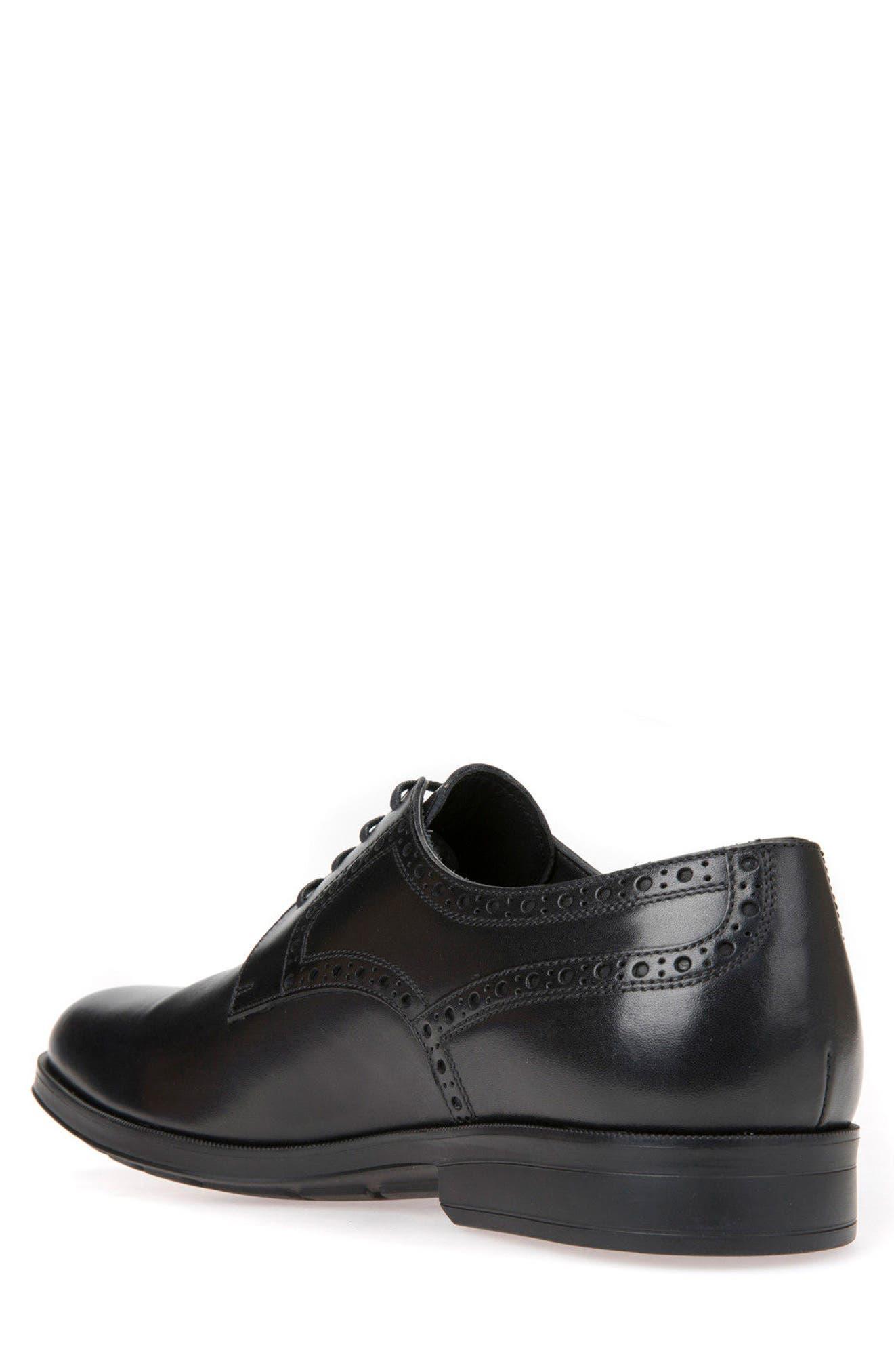 Hilstone 3 Plain Toe Derby,                             Alternate thumbnail 2, color,                             Black Leather