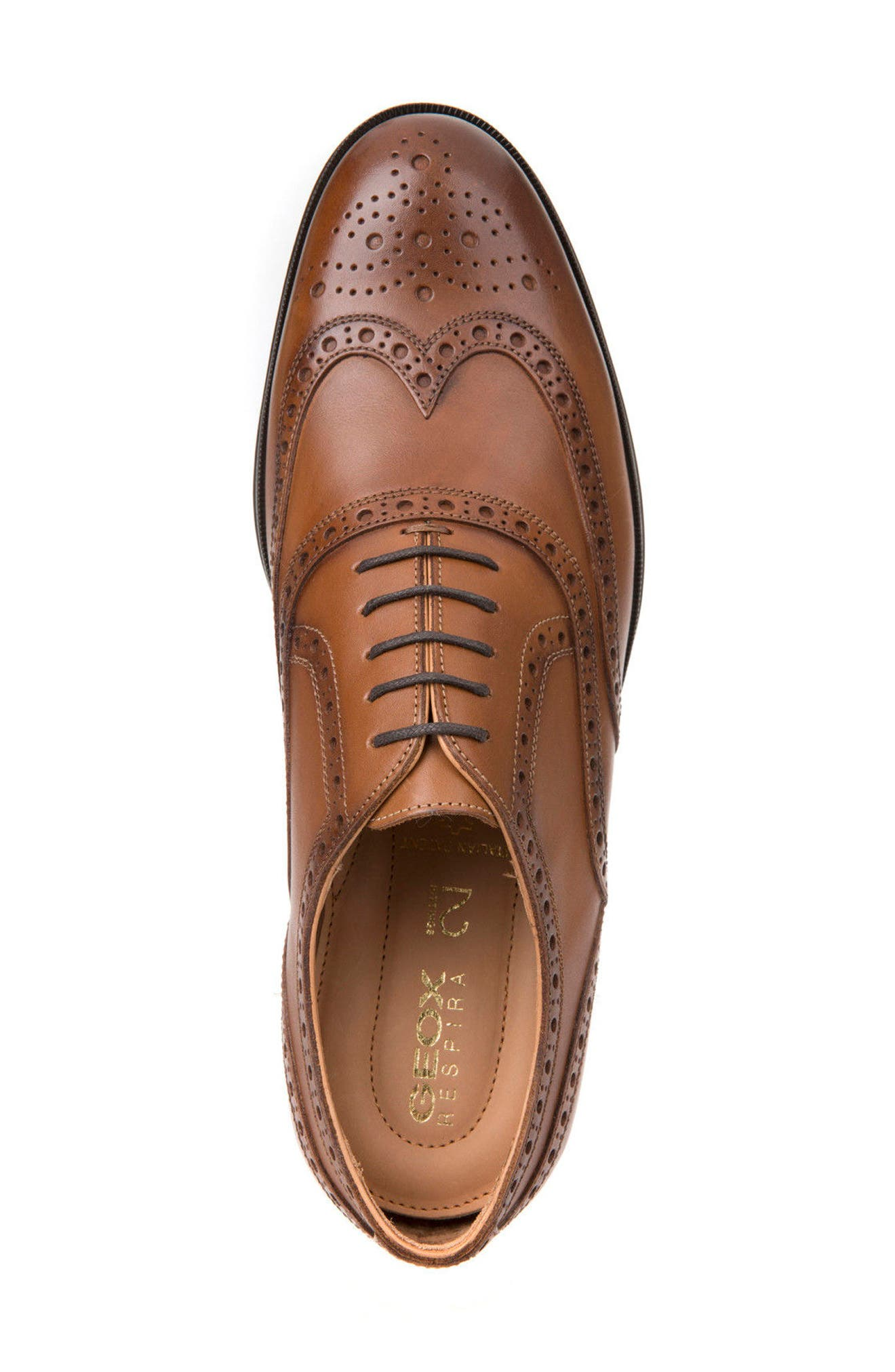 Hilstone 2Fit 2 Wingtip Oxford,                             Alternate thumbnail 5, color,                             Cognac Leather