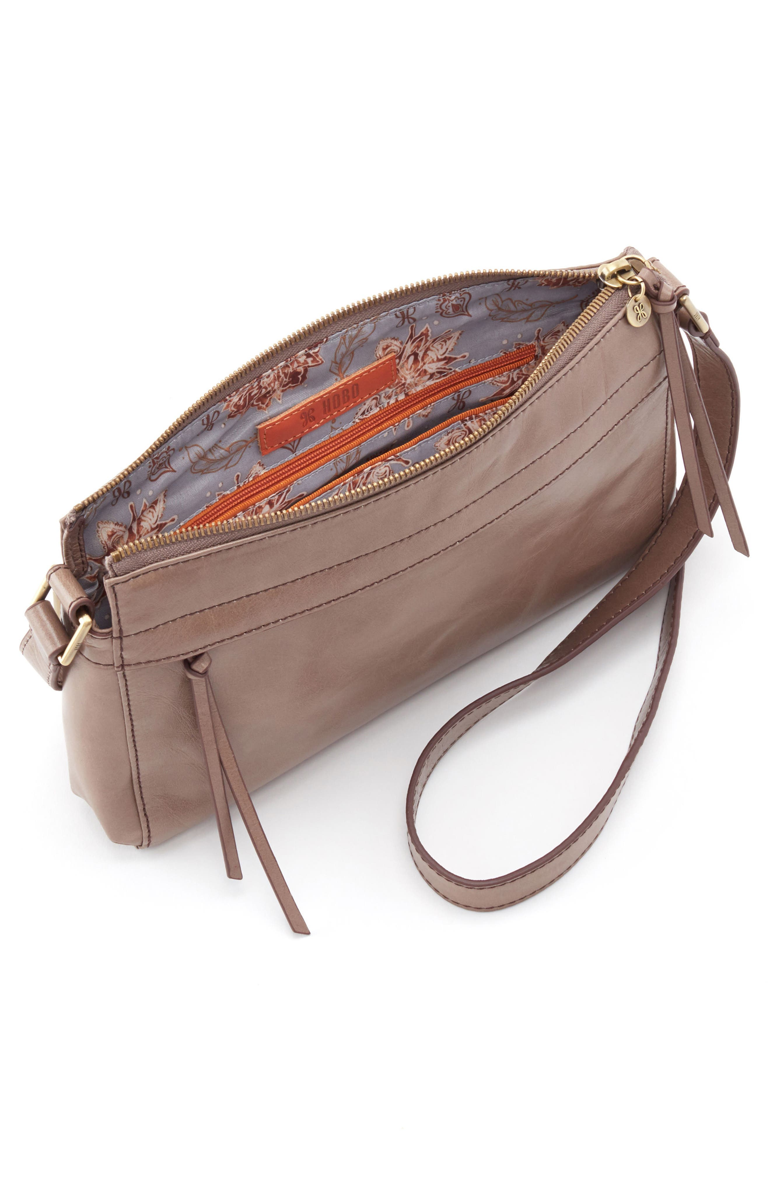 Tobey Leather Crossbody Bag,                             Alternate thumbnail 3, color,                             Ash
