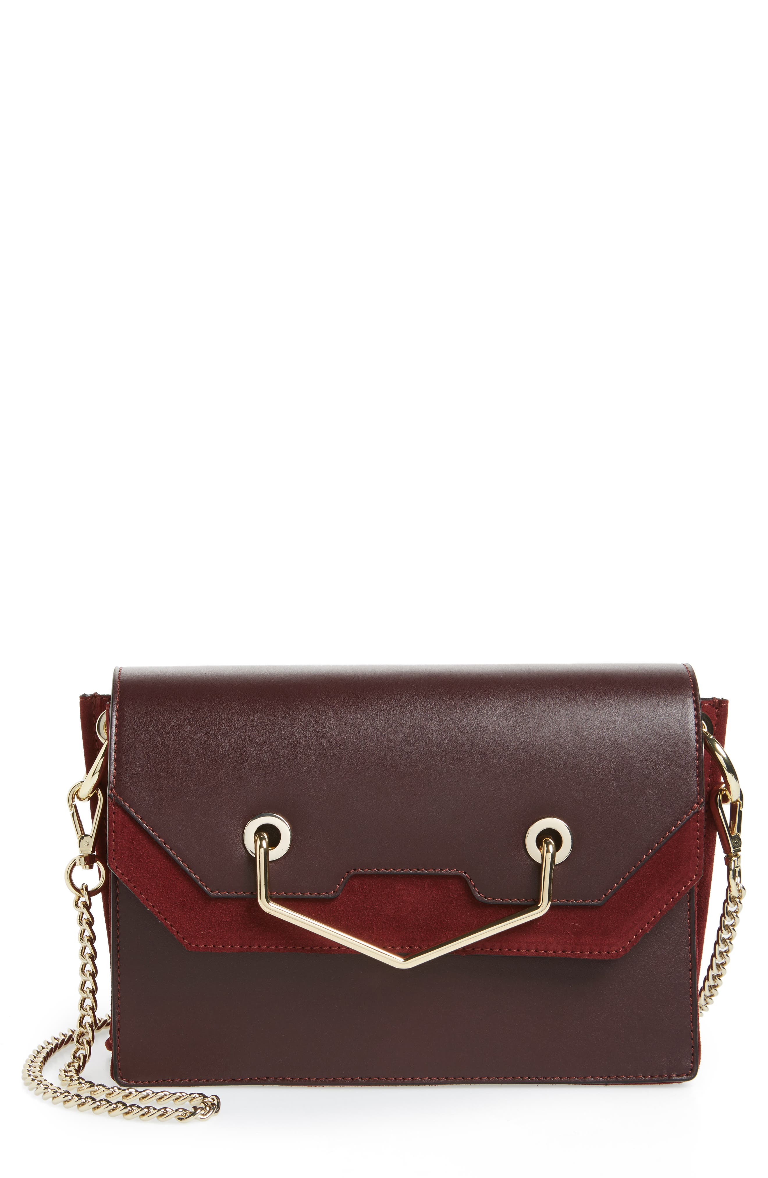 Main Image - Topshop Premium Leather & Suede Soko Shoulder Bag