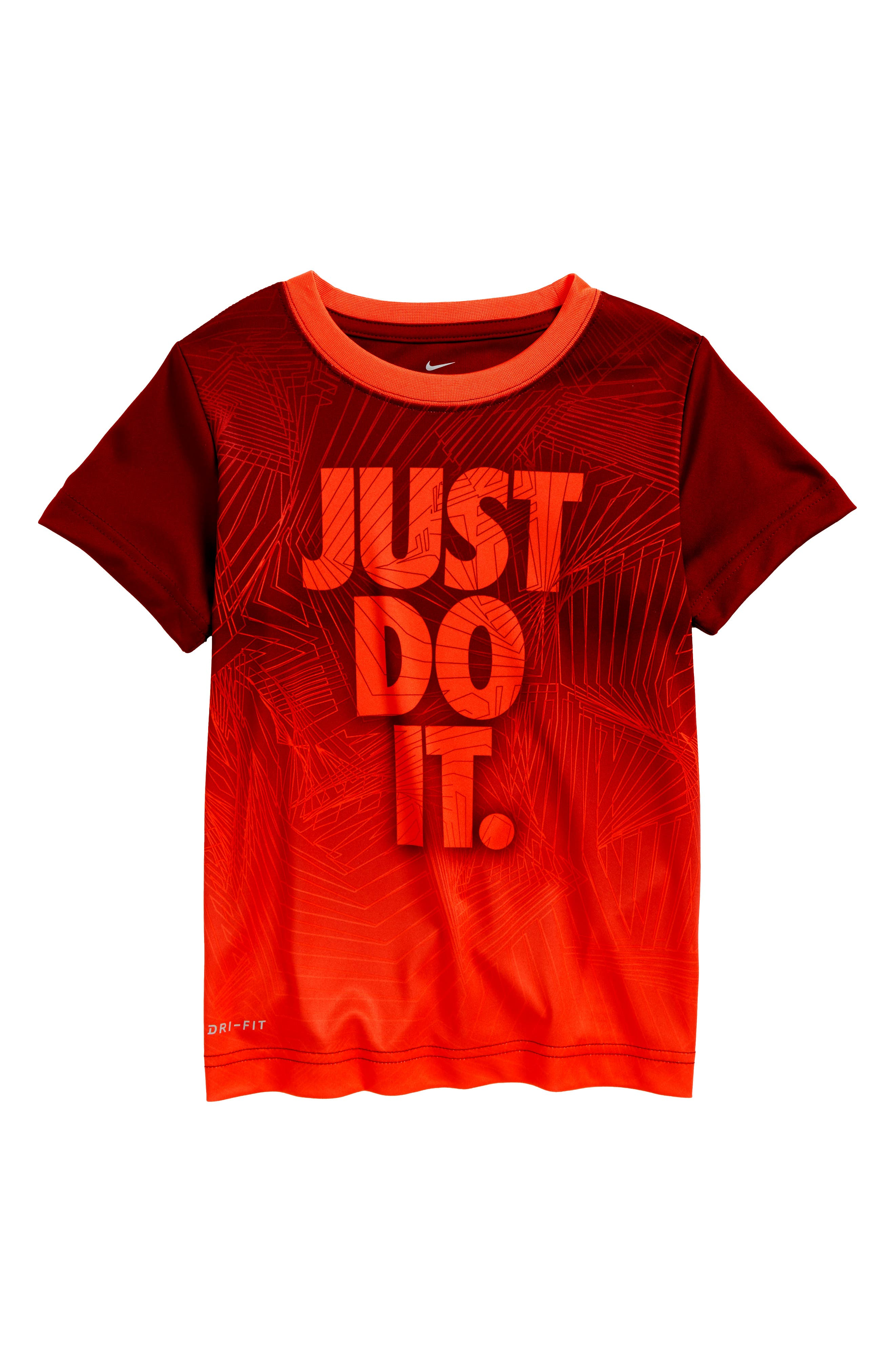 Maze Mash-Up Dry T-Shirt,                         Main,                         color, Team Red