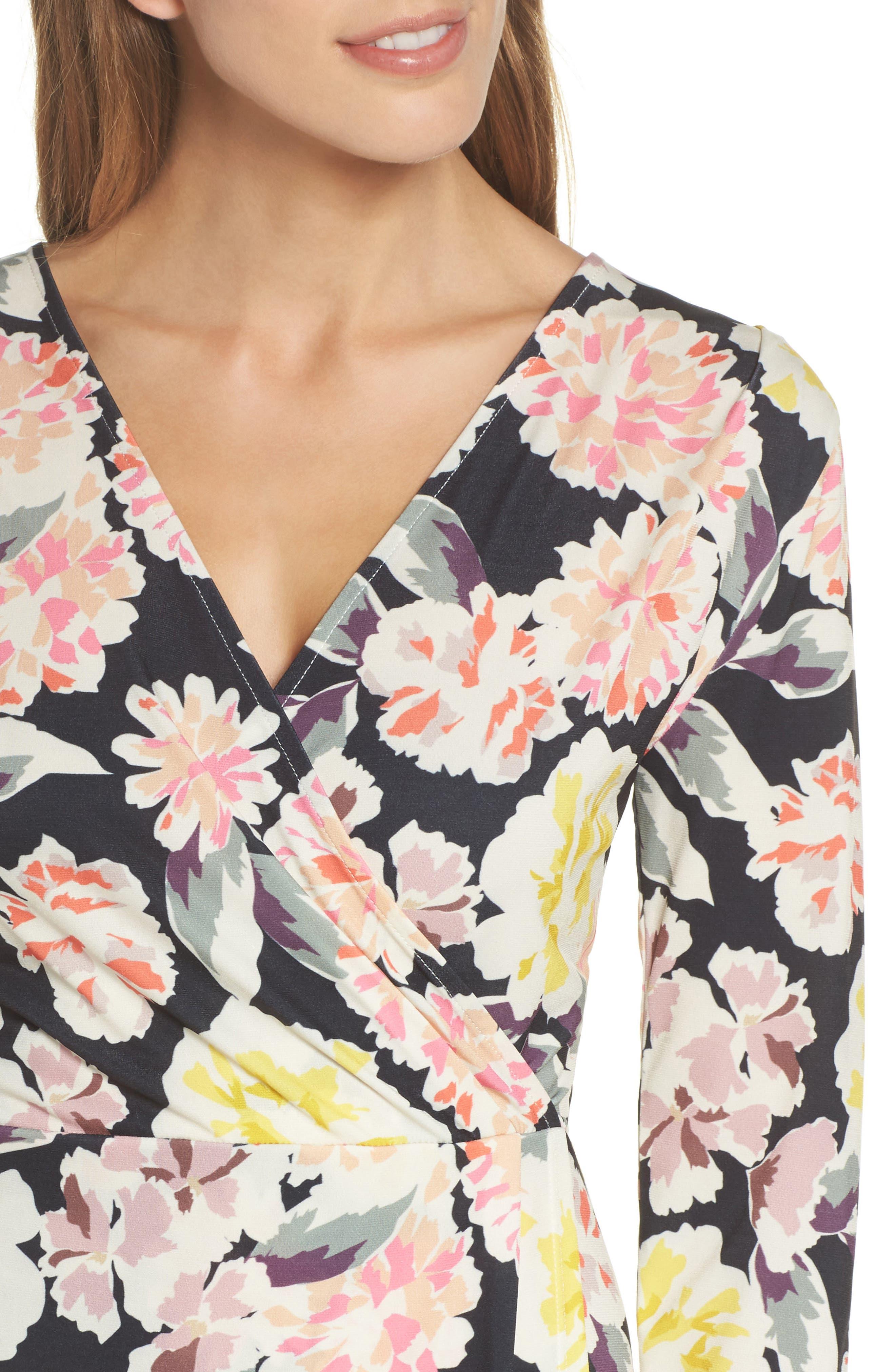 Enoshima Sheath Dress,                             Alternate thumbnail 4, color,                             Black Multi