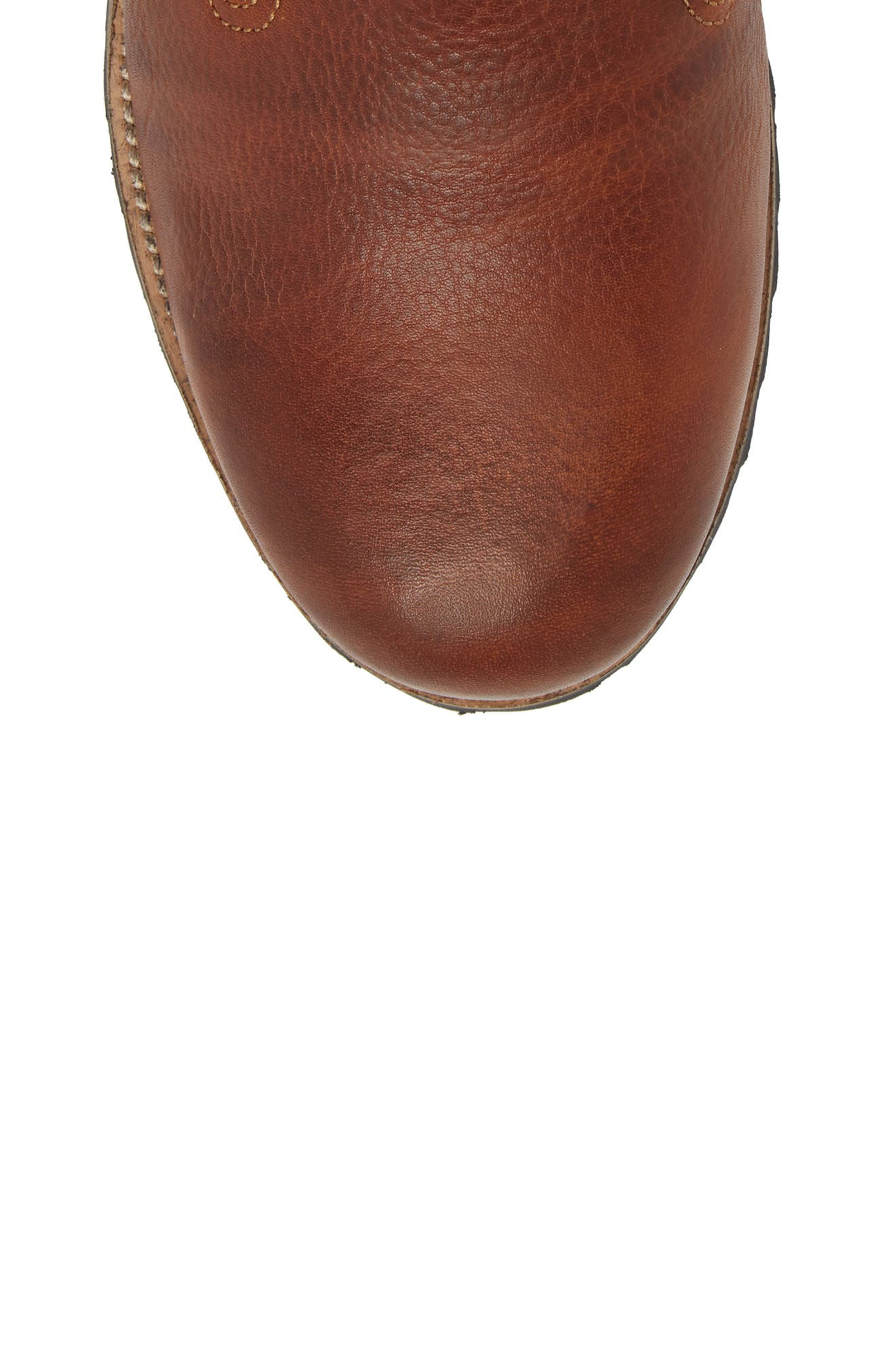IM 12 Plain Toe Boot with Genuine Shearling,                             Alternate thumbnail 5, color,                             Cuoio Leather