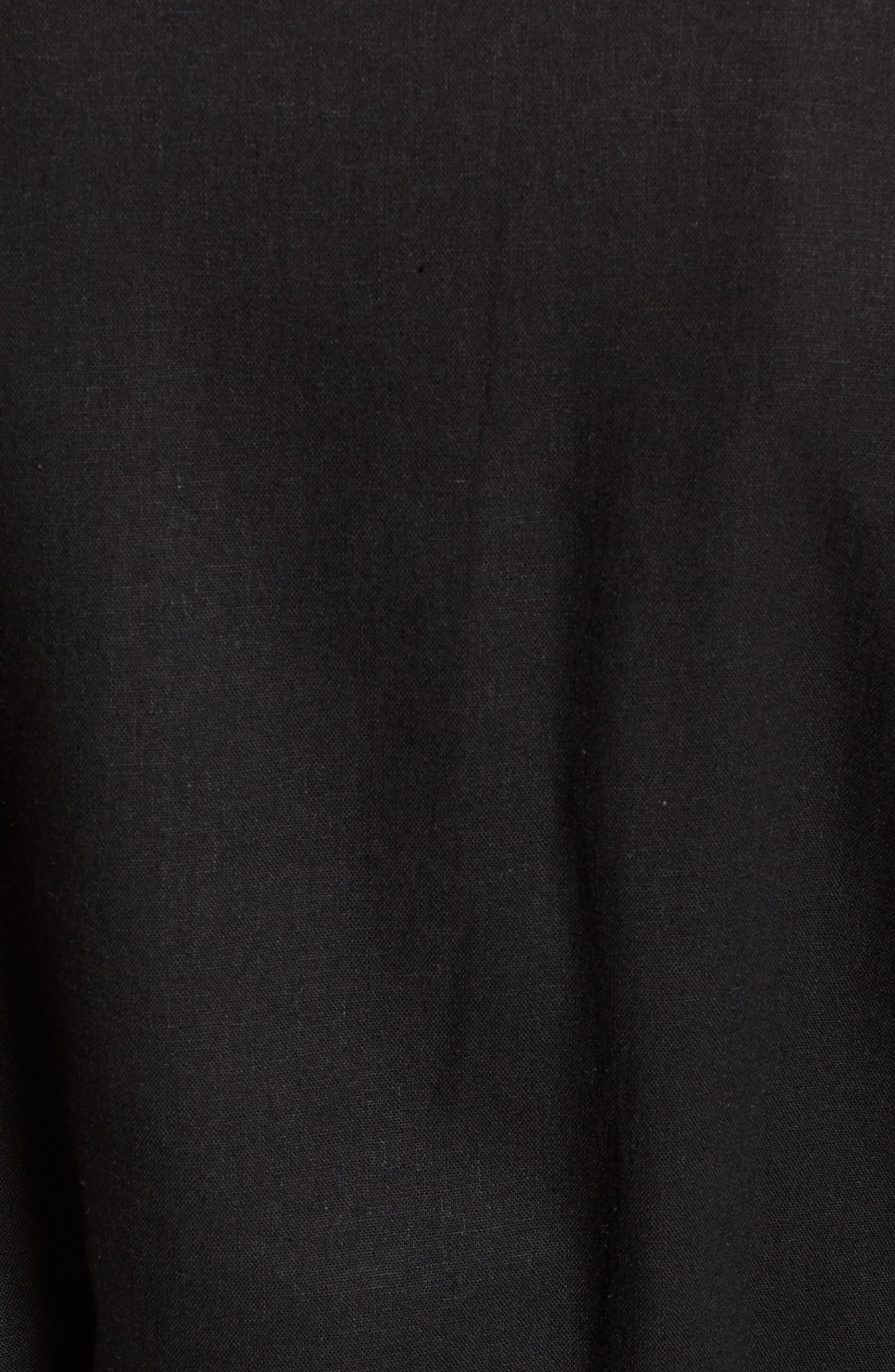 Linen Blend Duster,                             Alternate thumbnail 5, color,                             Black