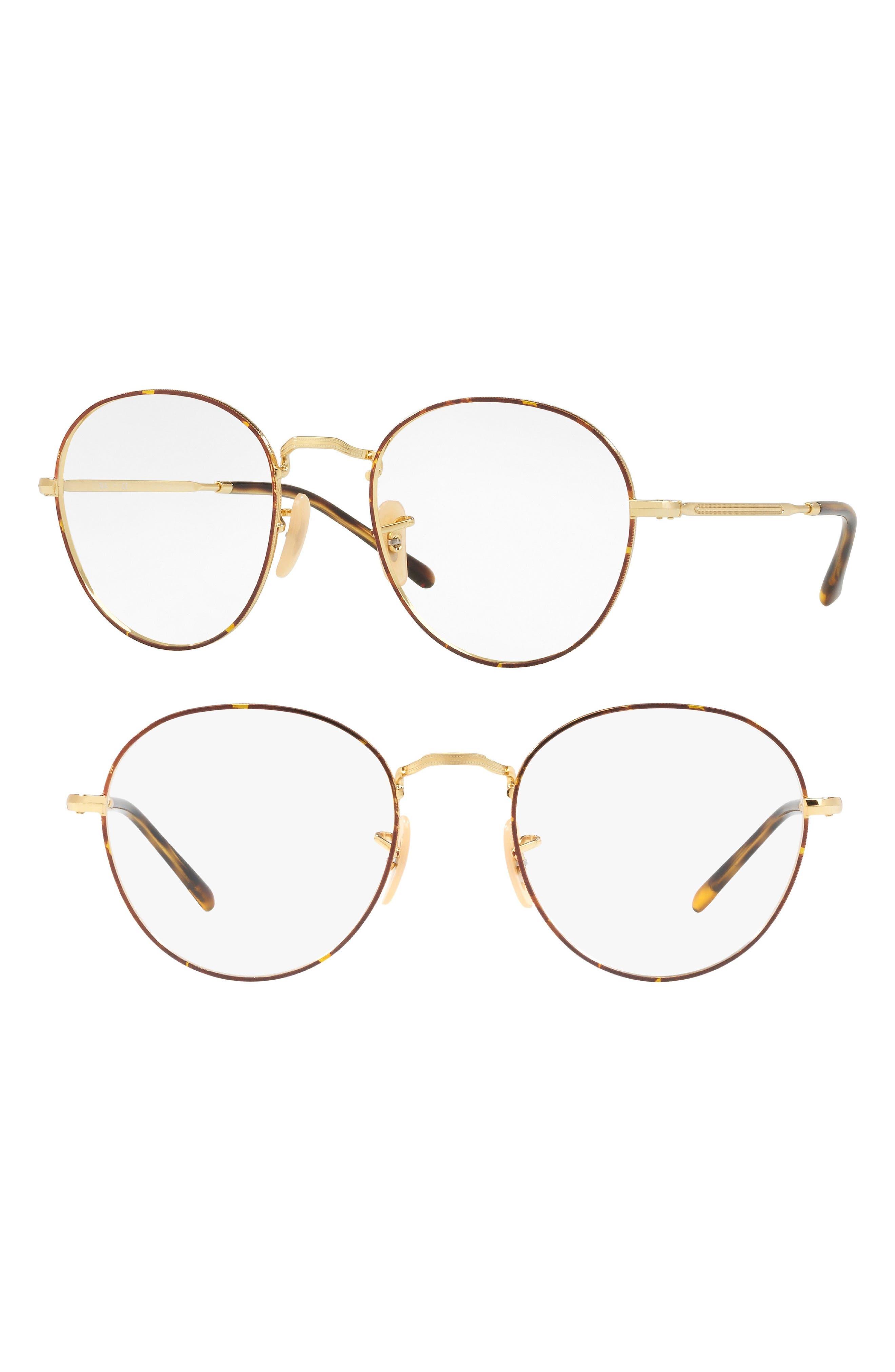 3582V 51mm Optical Glasses,                             Main thumbnail 1, color,                             Gold Tortoise