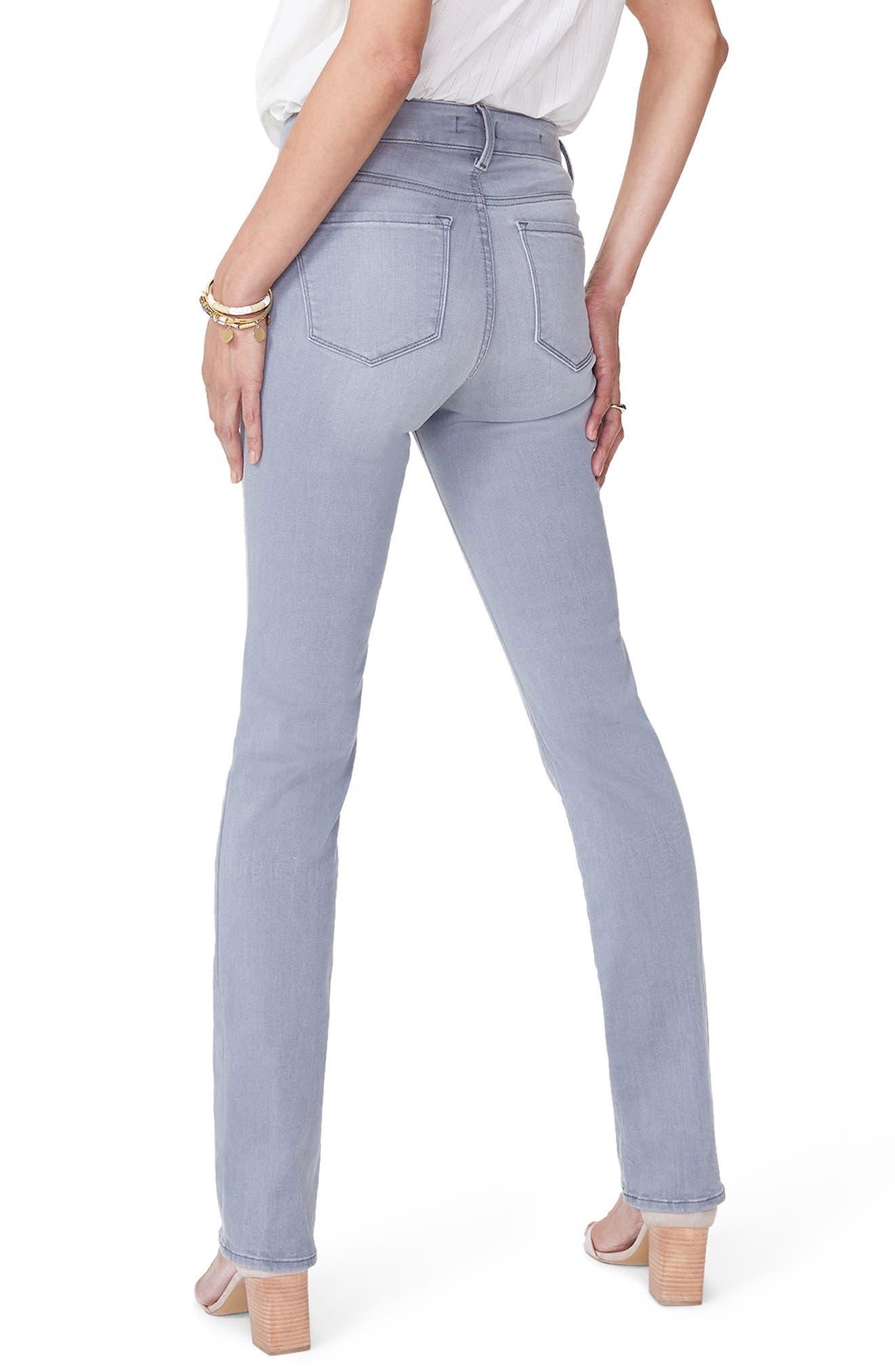 Marilyn Stretch Straight Leg Jeans,                             Alternate thumbnail 2, color,                             Carbon Beach