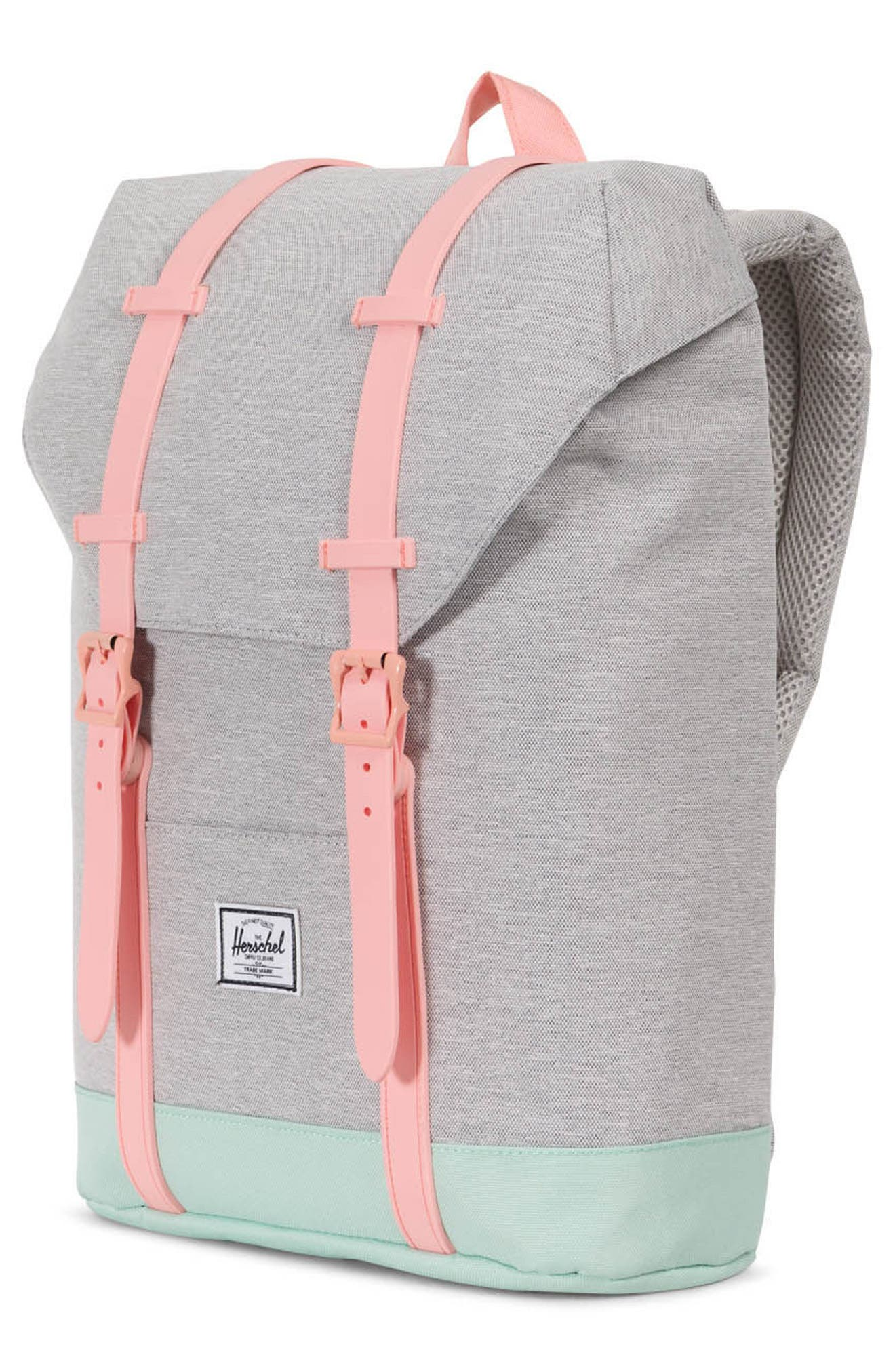 Retreat Backpack,                             Alternate thumbnail 4, color,                             Light Grey/ Yucca/ Peach