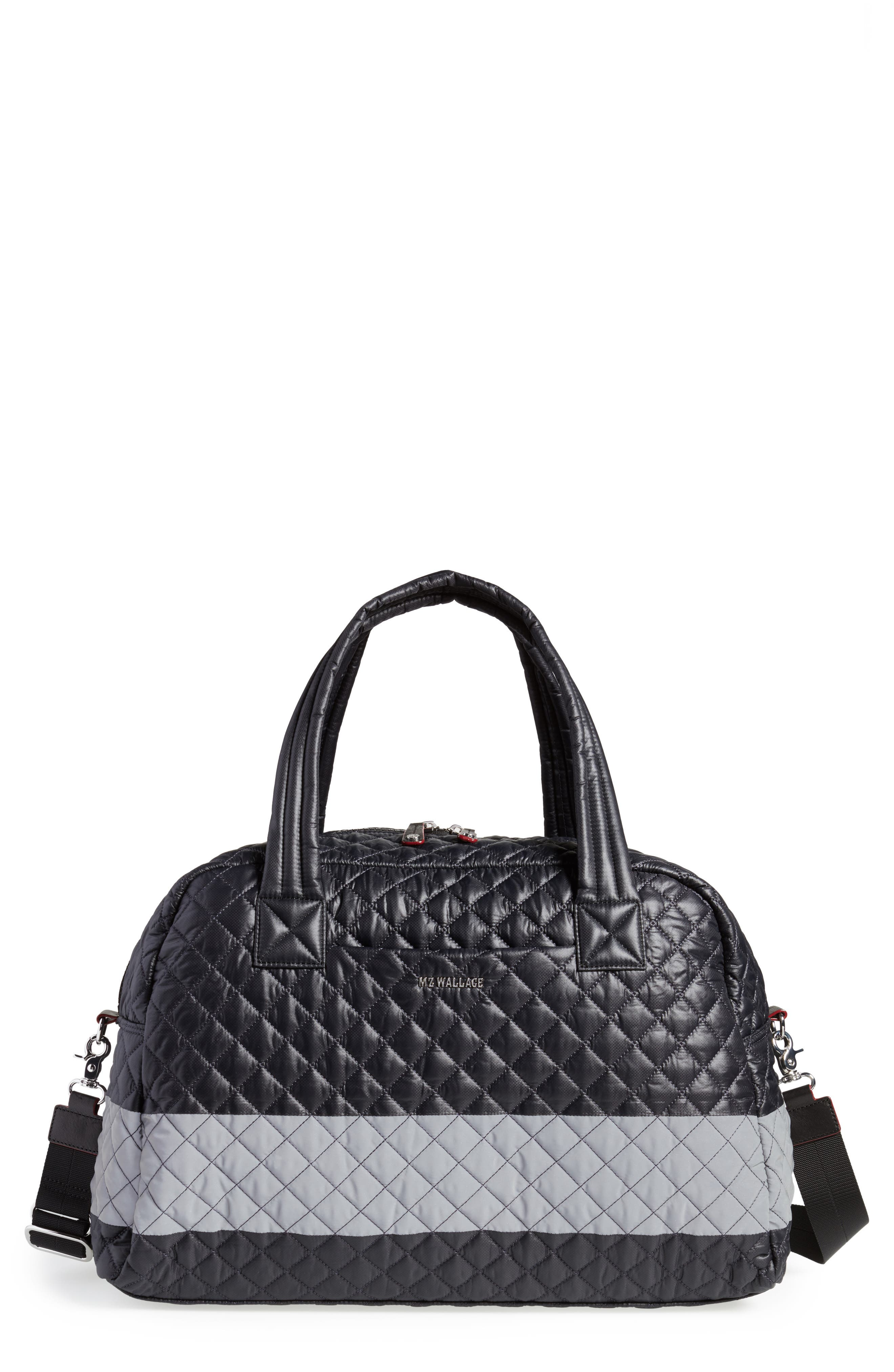 Alternate Image 1 Selected - MZ Wallace Jim Quilted Nylon Duffel Bag