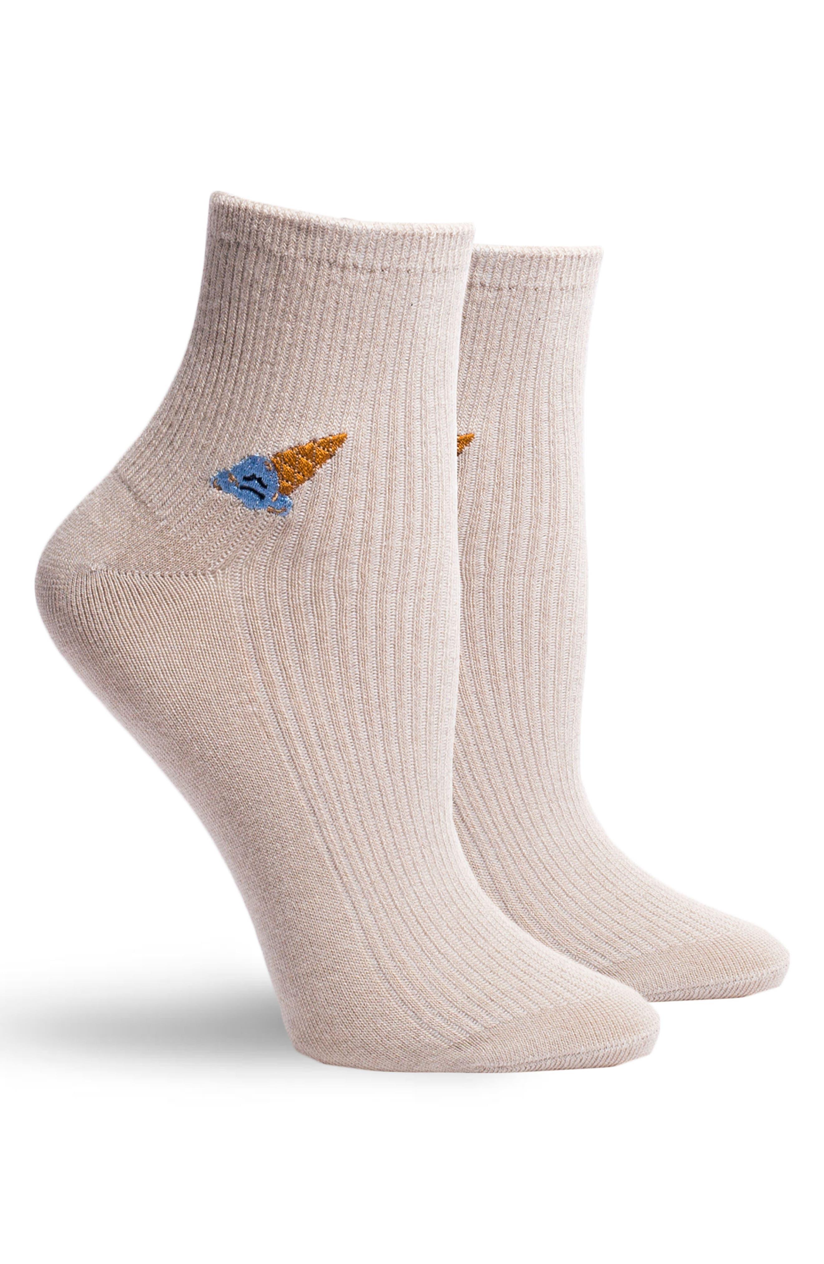 Coney Ankle Socks,                             Alternate thumbnail 2, color,                             Oatmeal