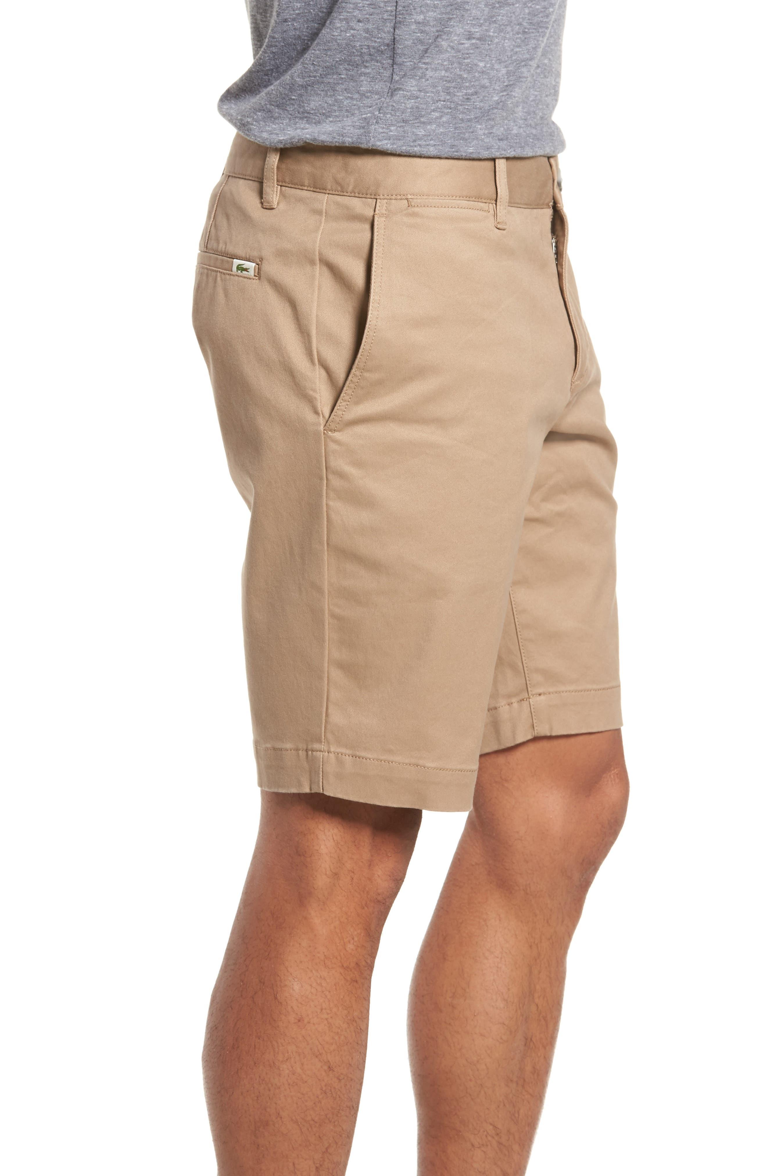 Slim Fit Chino Shorts,                             Alternate thumbnail 3, color,                             Kraft Beige