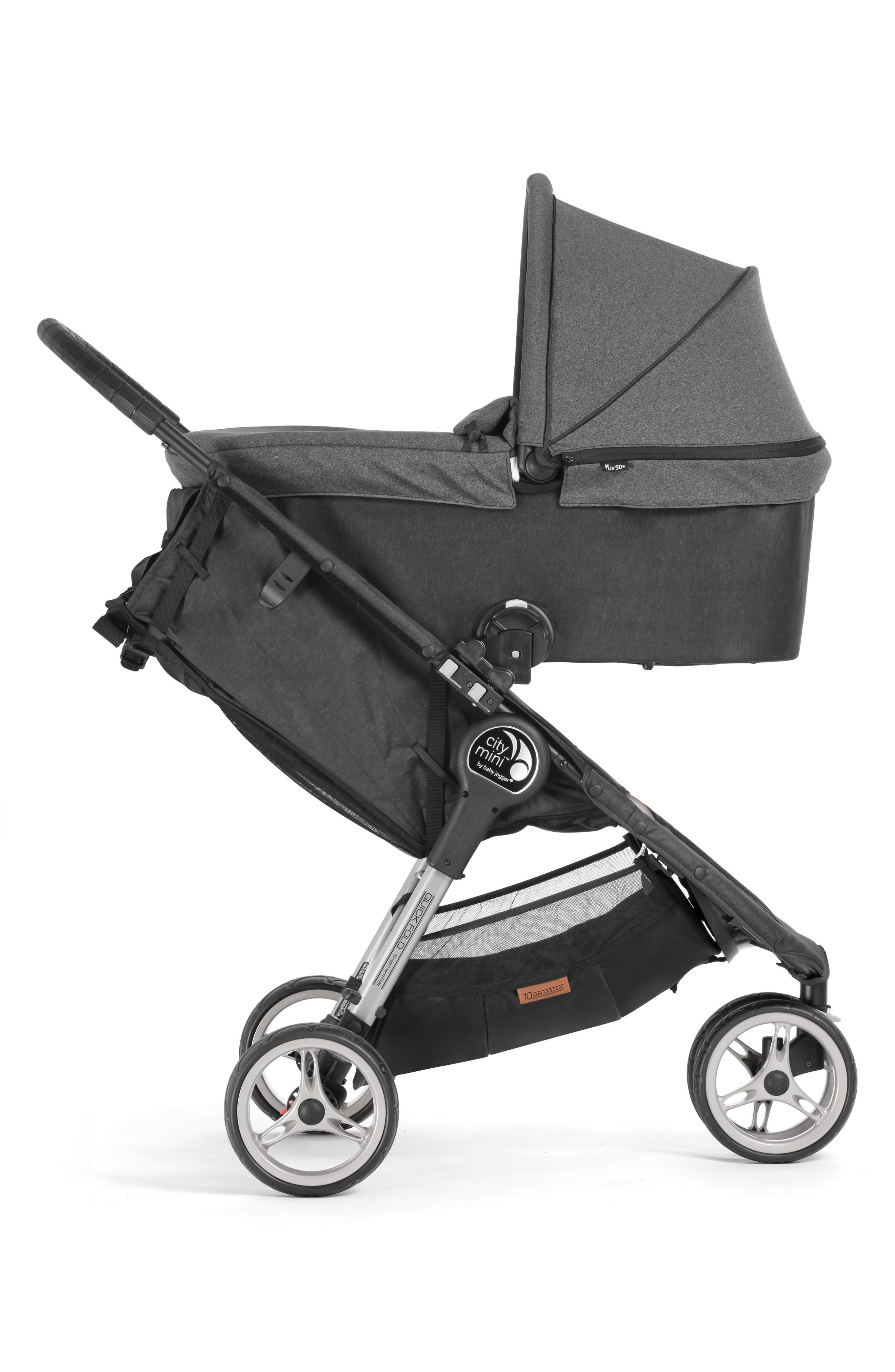 Deluxe Pram Converter Kit for City Mini<sup>®</sup> 2018 Special Edition 10-Year Anniversary All-Terrain Stroller,                             Alternate thumbnail 5, color,                             Grey