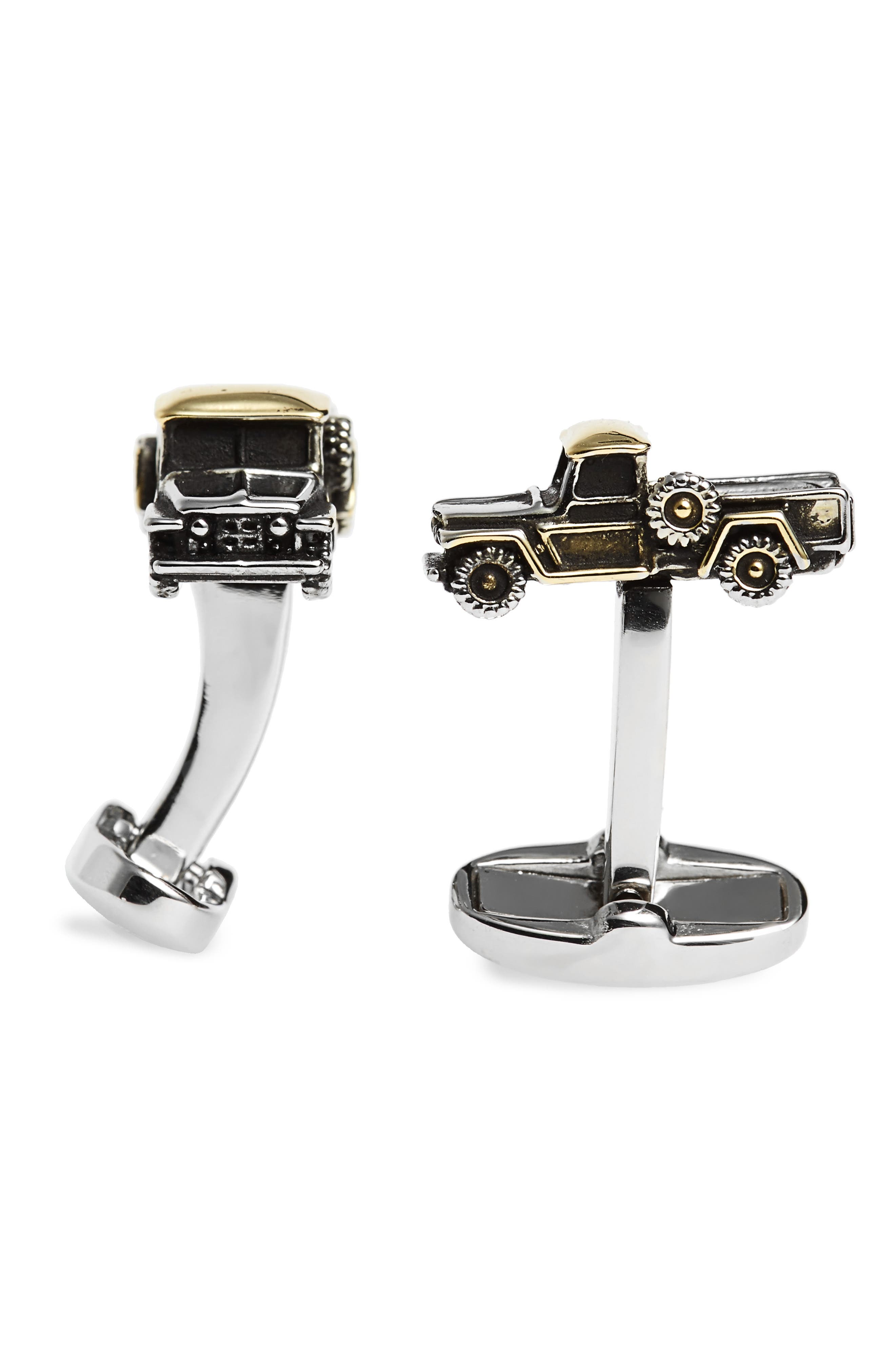 Truck Cuff Links,                         Main,                         color, Mixed Plating 1