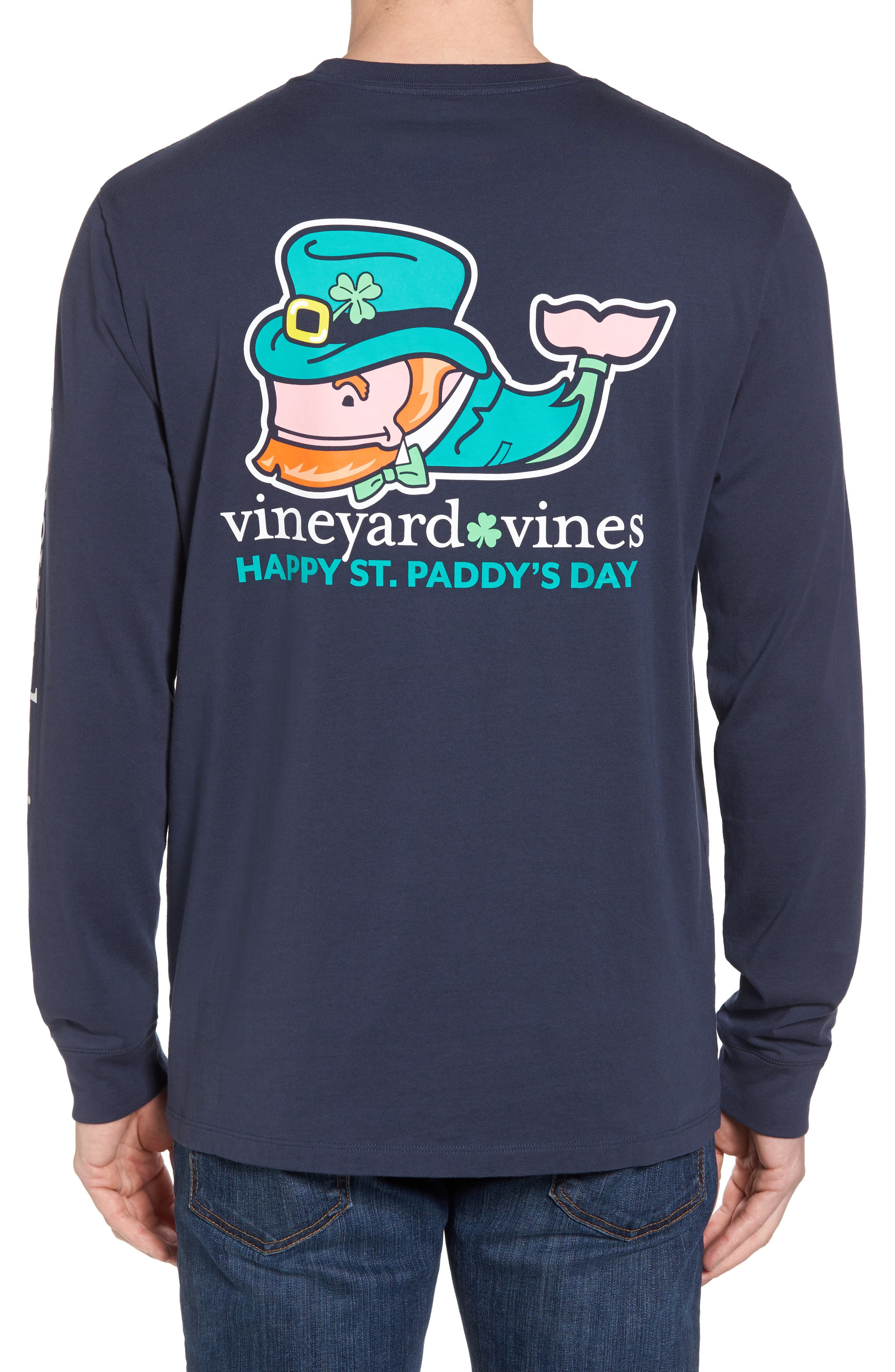 St. Paddy's Day T-Shirt,                             Alternate thumbnail 2, color,                             Blue Blazer