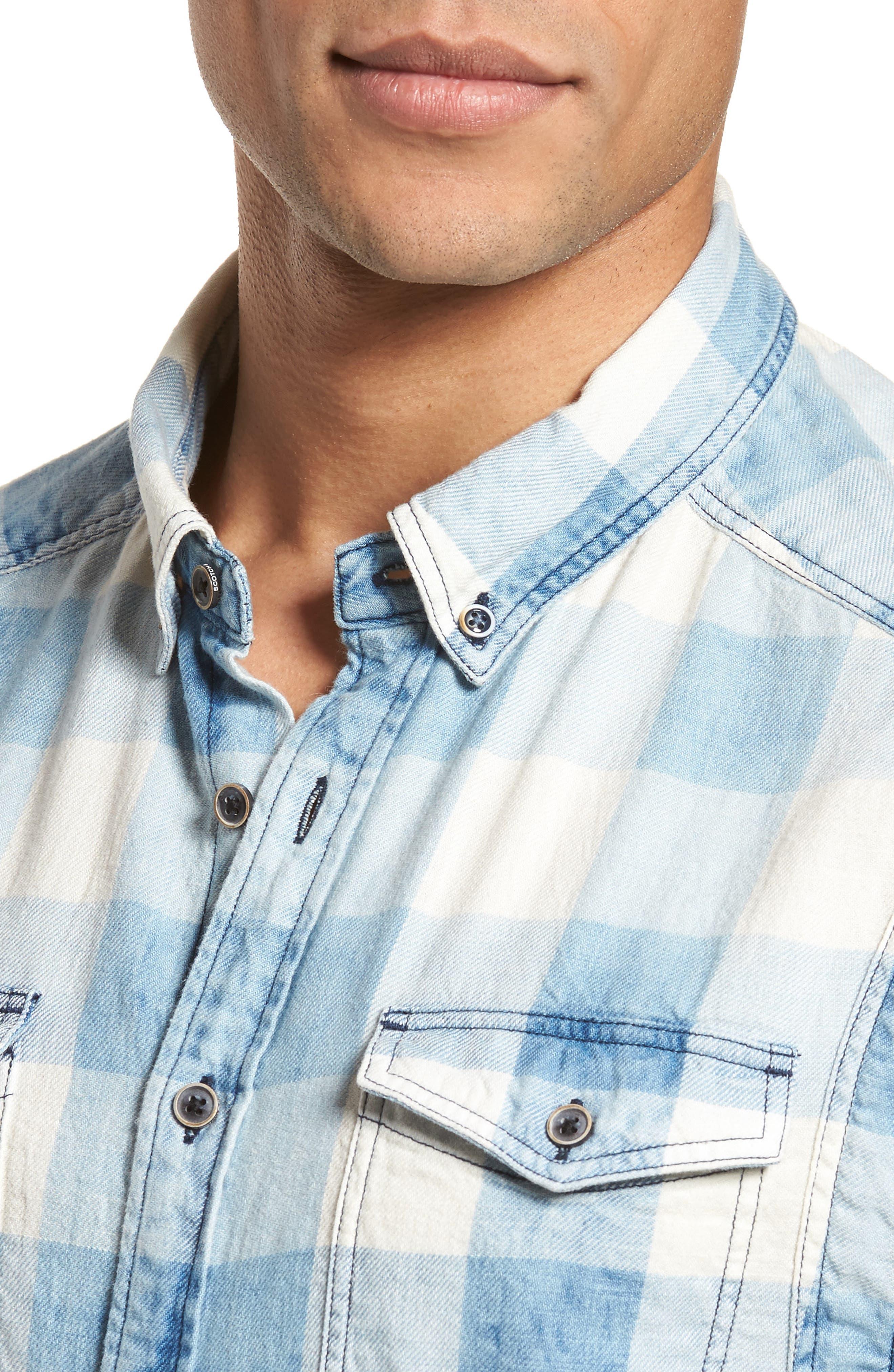 Amsterdams Blauw Check Shirt,                             Alternate thumbnail 4, color,                             Combo A