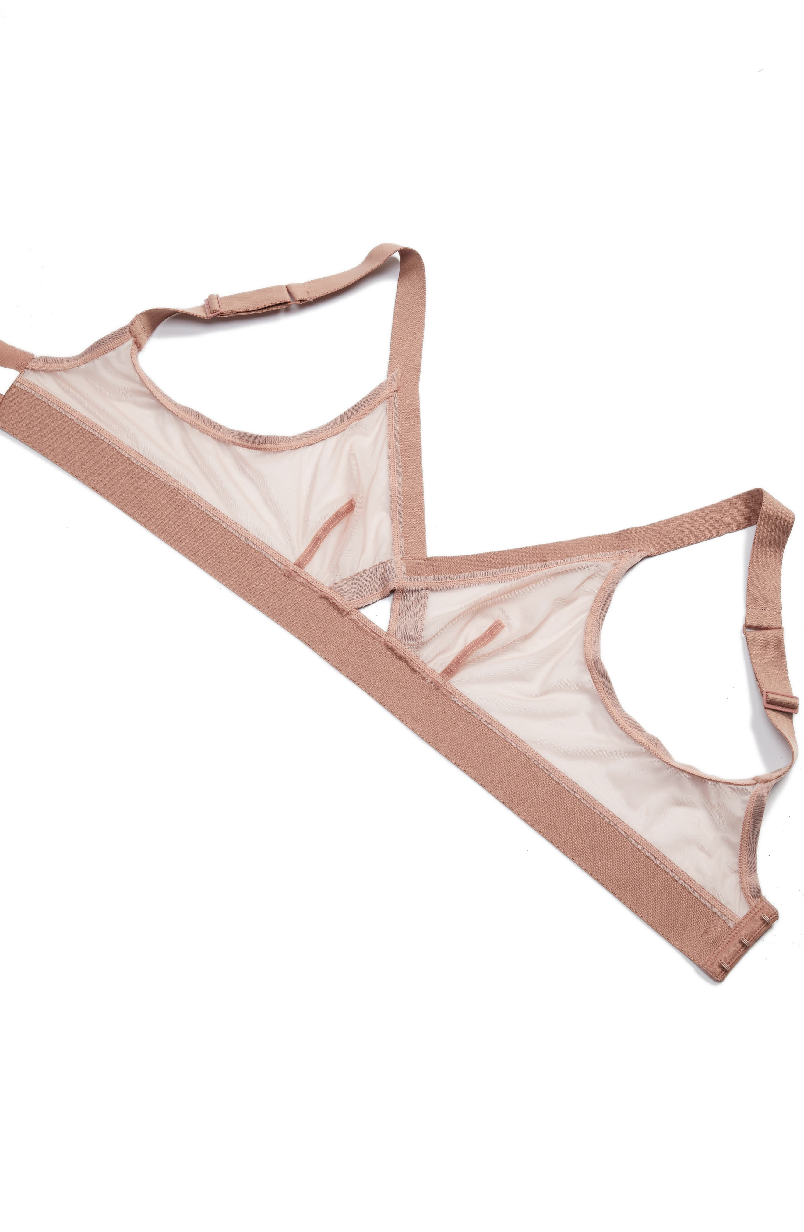 Sheers Wireless Bralette,                             Alternate thumbnail 5, color,                             Shell/Rouge