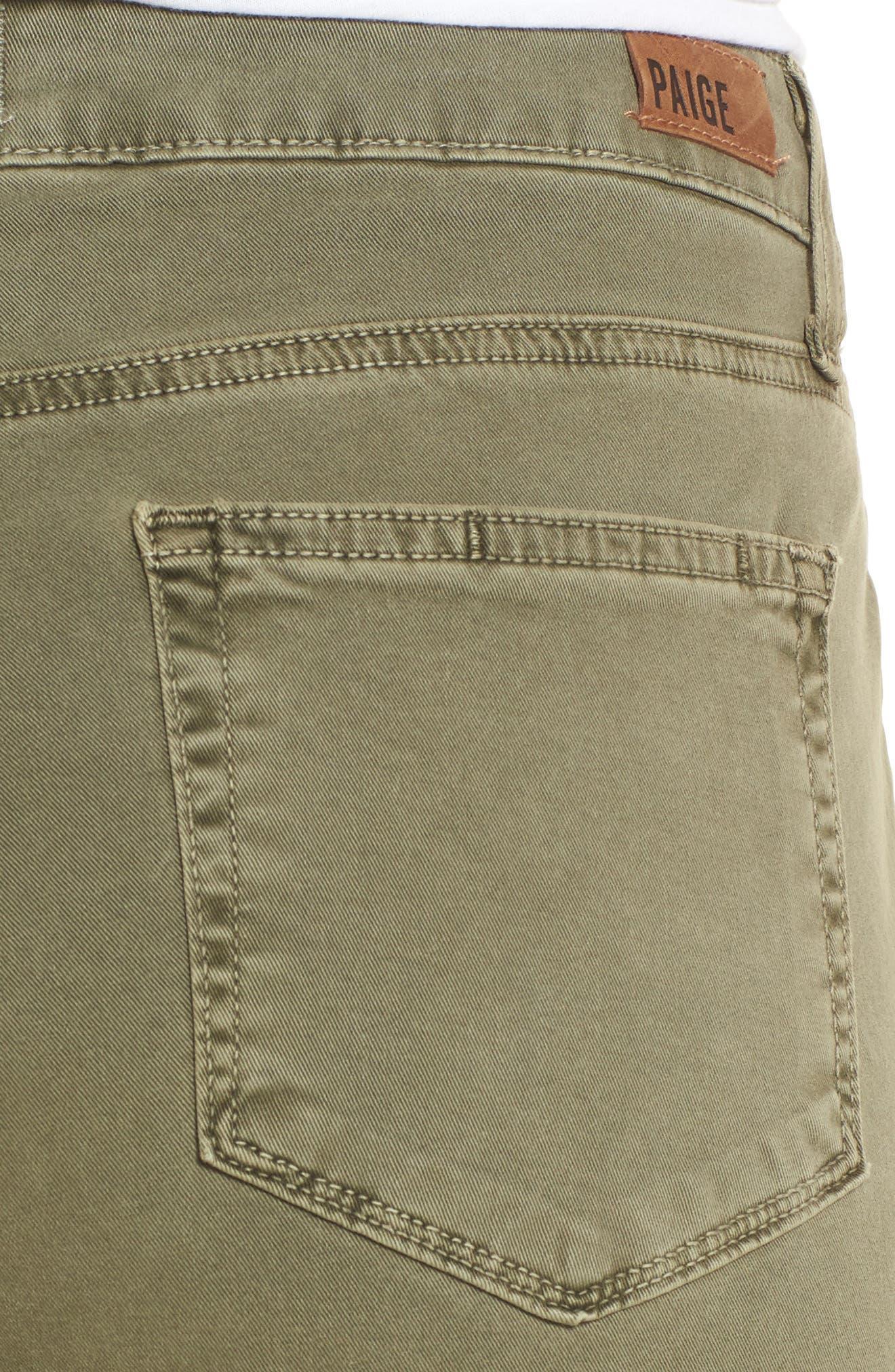 Brigitte Crop Boyfriend Jeans,                             Alternate thumbnail 4, color,                             Vintage Green