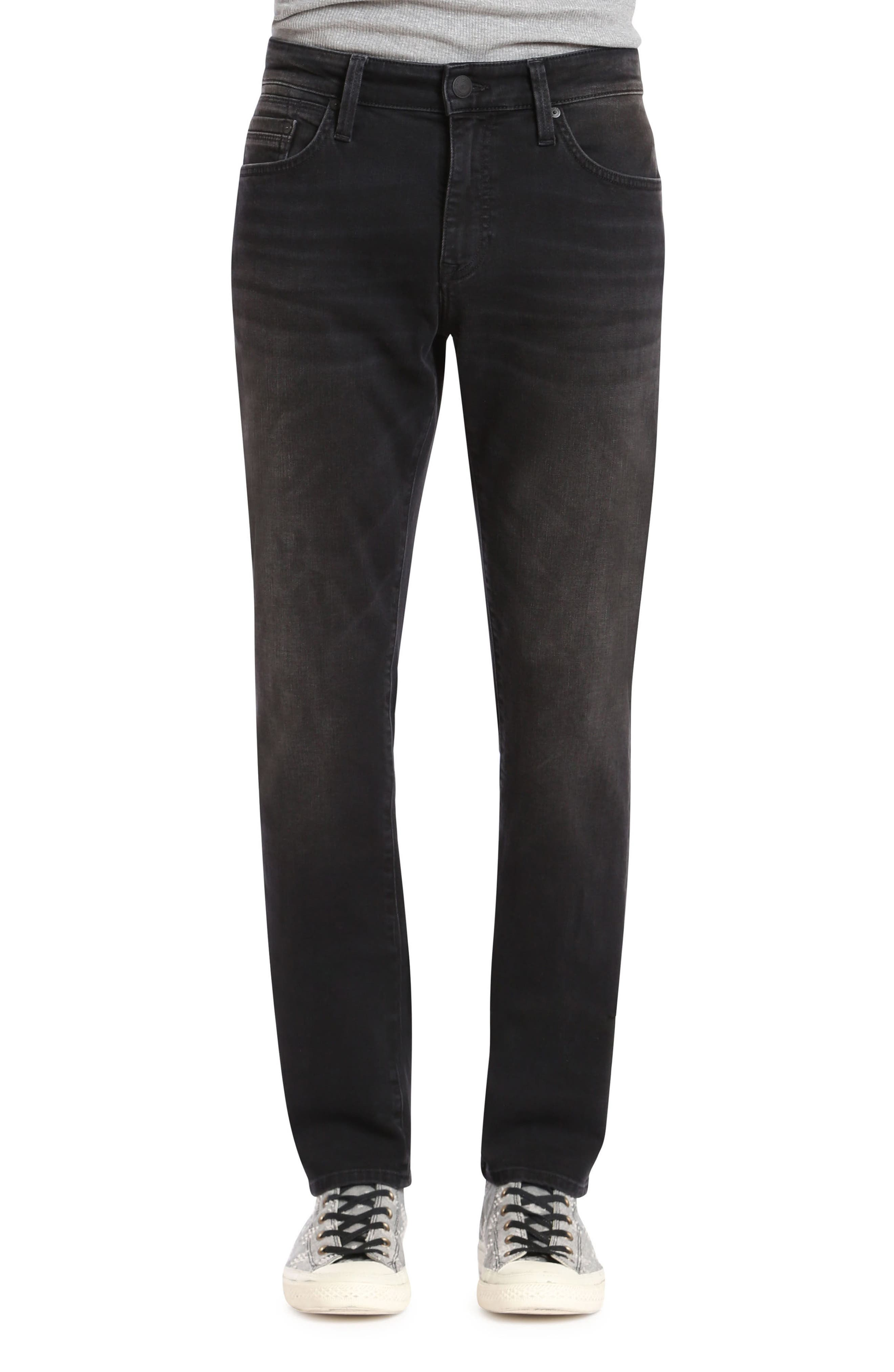 Marcus Slim Straight Leg Jeans,                             Main thumbnail 1, color,                             Dark Smoke Williamsburg