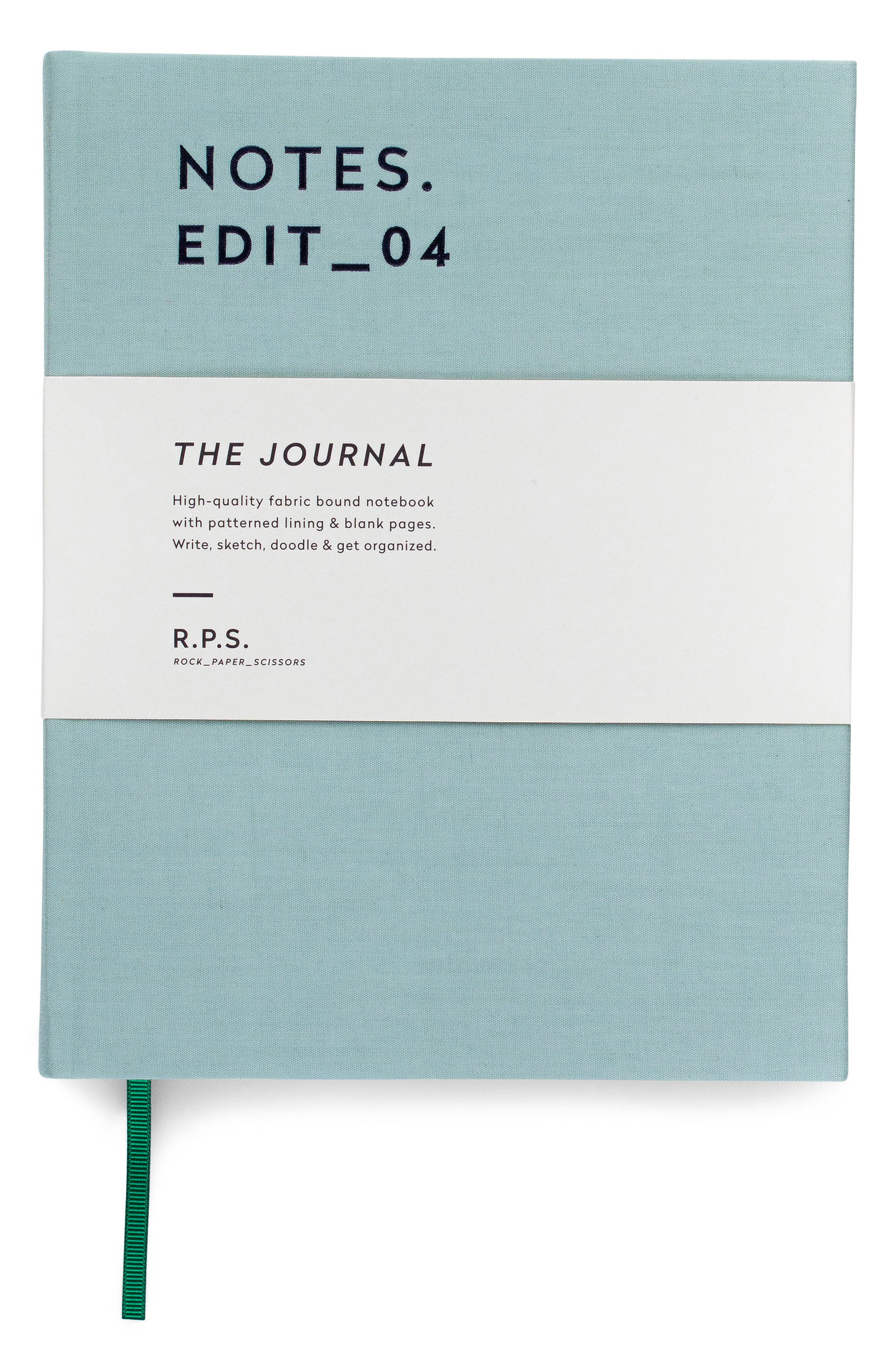 Notes Fabric Bound Journal,                             Alternate thumbnail 4, color,                             Dusty Mint