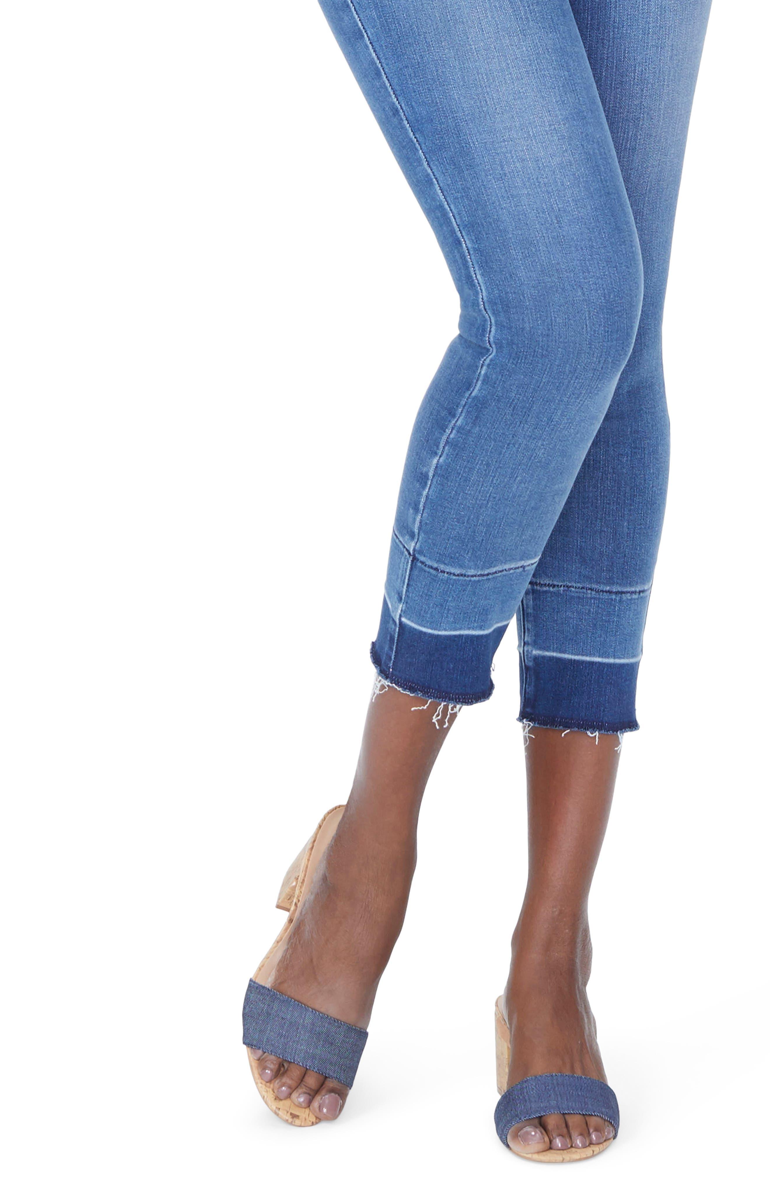 Alina Release Hem Ankle Skinny Jeans,                             Alternate thumbnail 5, color,                             Wishful